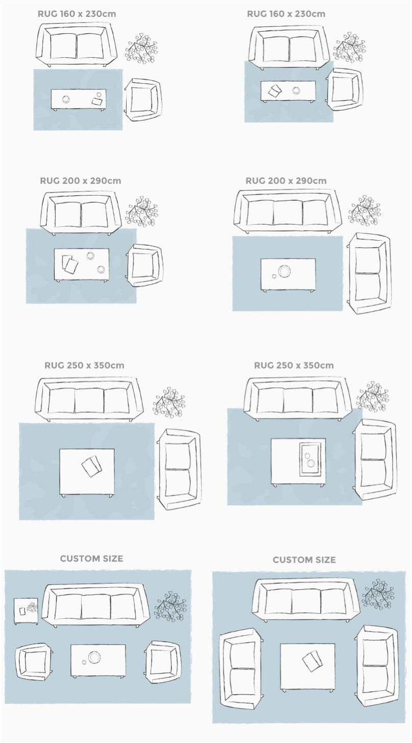 rug size placement guide