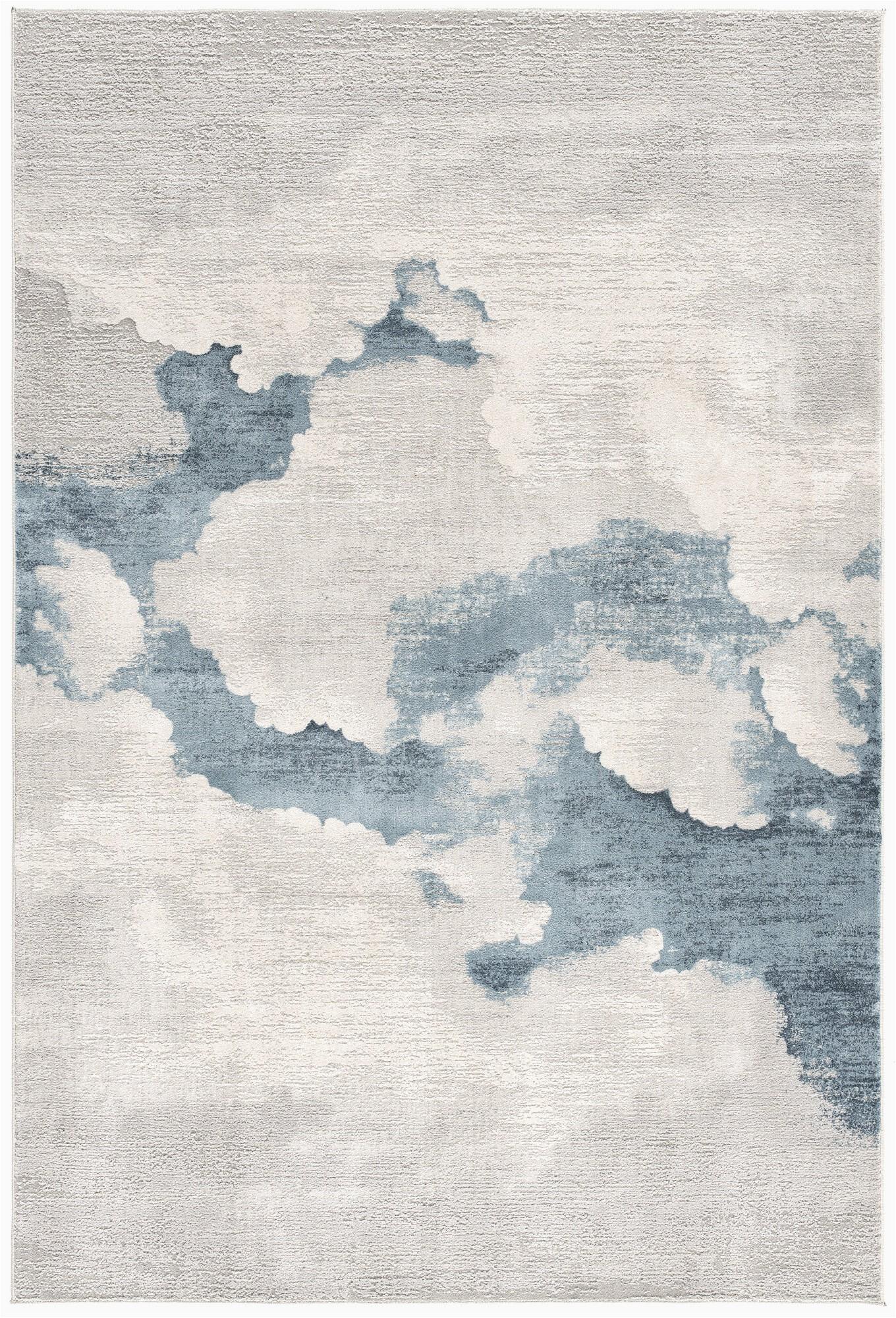 kraus abstract creamlight blue area rug