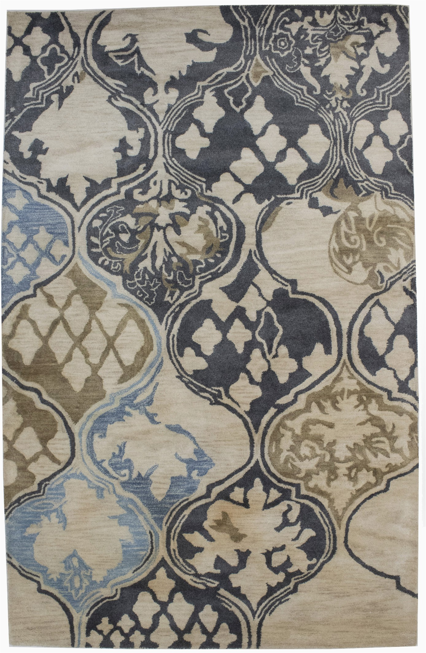 Cream and Navy Blue area Rugs Details About Cream & Navy Blue Abstract 5×8 Modern Wool Hand Tufted oriental area Rug Carpet