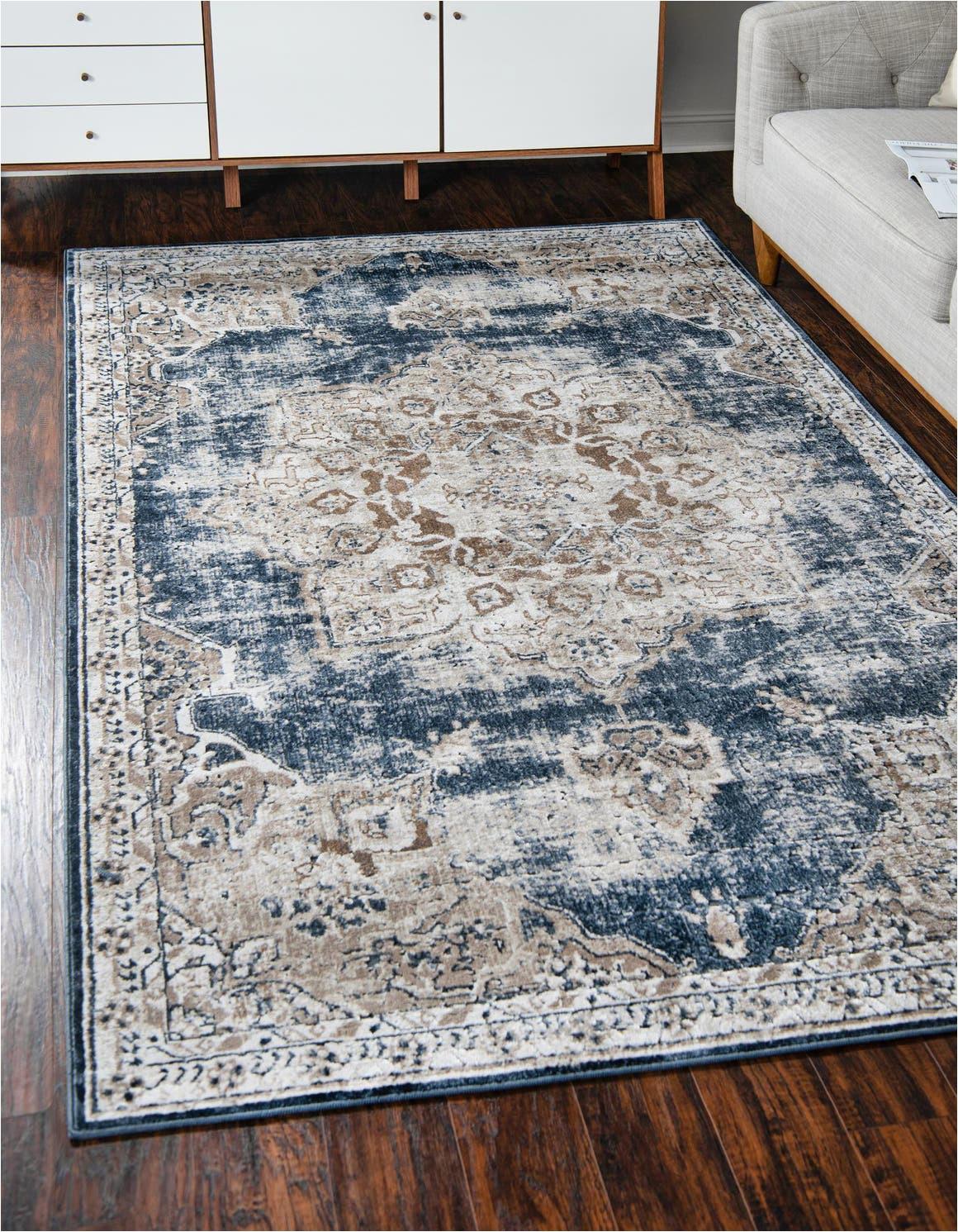 dark blue 8x10 villa area rug