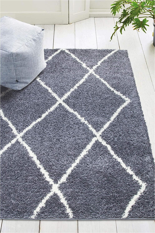 Dark Grey area Rug 5×7 Lapis Carpet & Rugs Lapis Vienna 5×7 Geometric Shaggy area