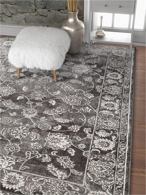 "Dark Grey area Rug 5×7 Well Woven Mirza Grey Modern Sarouk Vintage Distressed area Rug 5×7 5 3"" X 7 3"" Persian oriental Carpet"