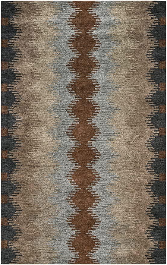 Dark or Light area Rug Rizzy Home Tumble Weed Loft Collection Wool area Rug 3 X 5 Multi Gray Dark & Light Rust Khaki Light Brown