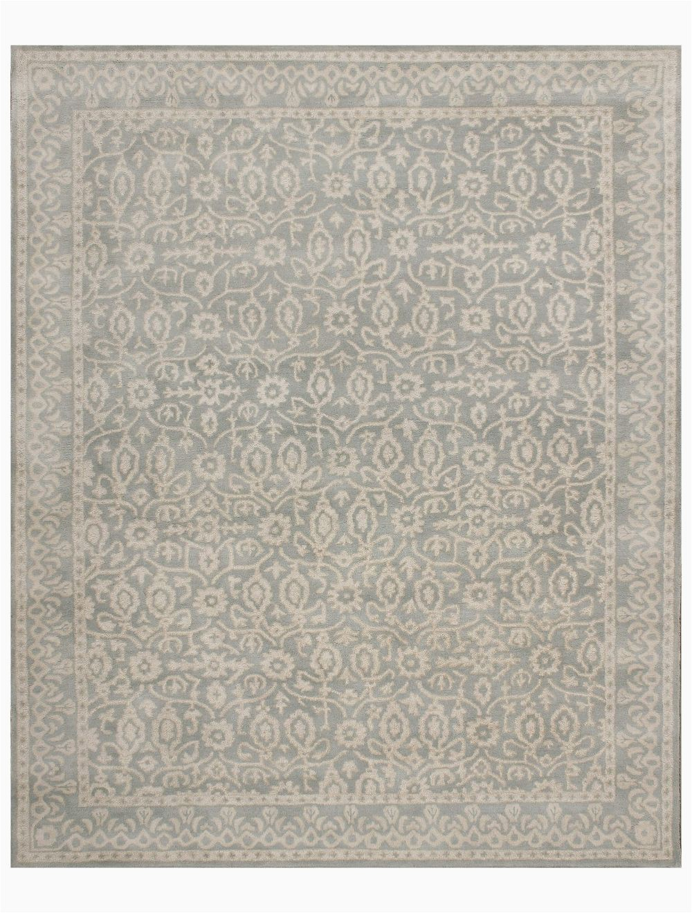 Desa Bordered Wool Rug Blue Abc Tile Rug Porcelain Light Blue Wool Rug 8 X 10