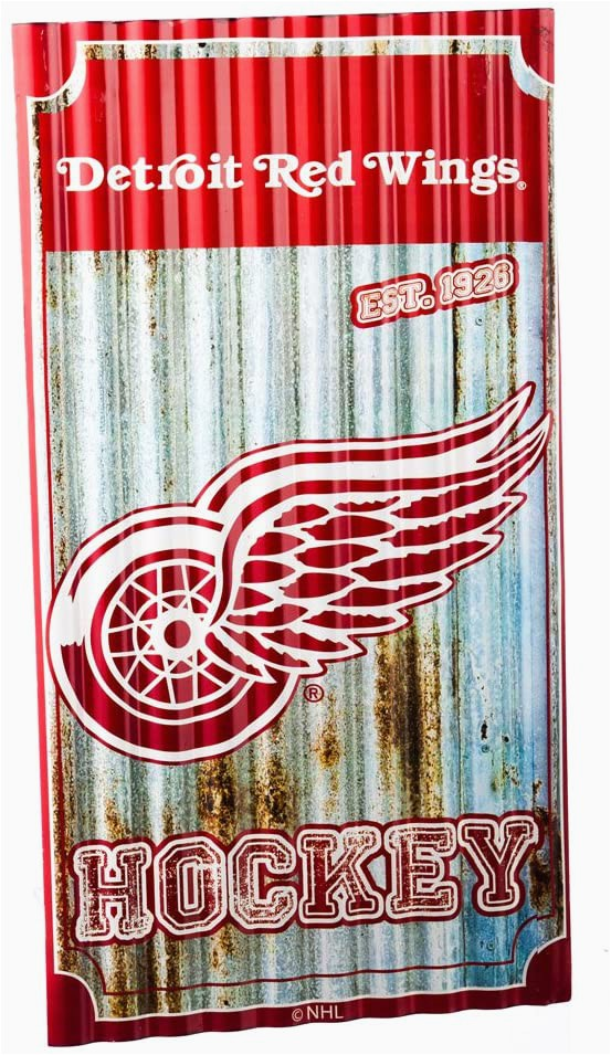 Detroit Red Wings area Rug Detroit Red Wings Corrugated Metal Wall Art Amazon