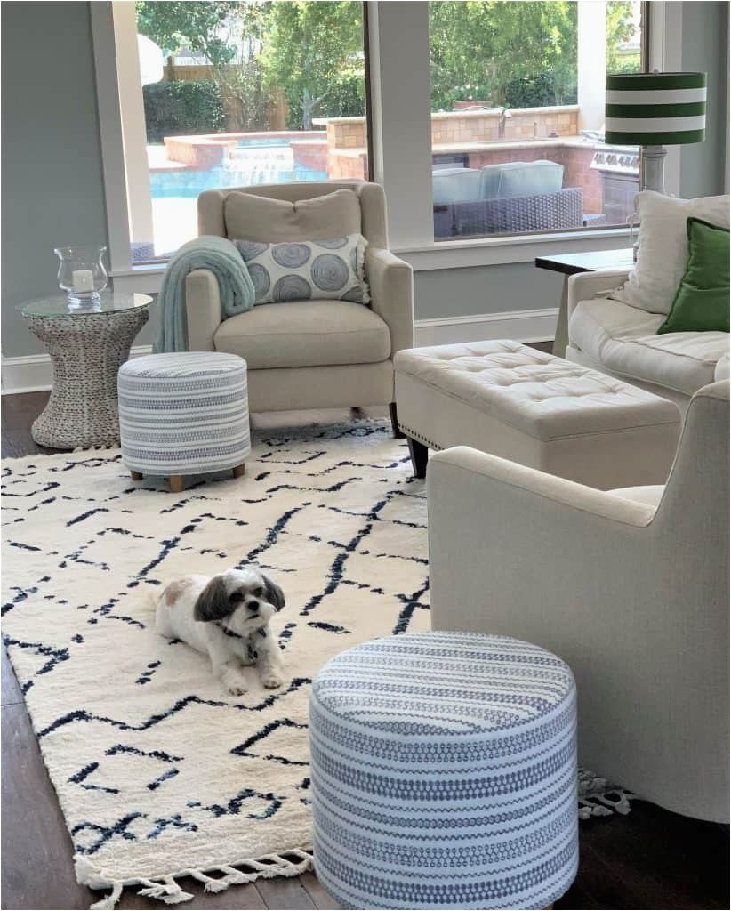 Diamond Scroll Blue Rug 12 Best Navy and White area Rugs Under $200