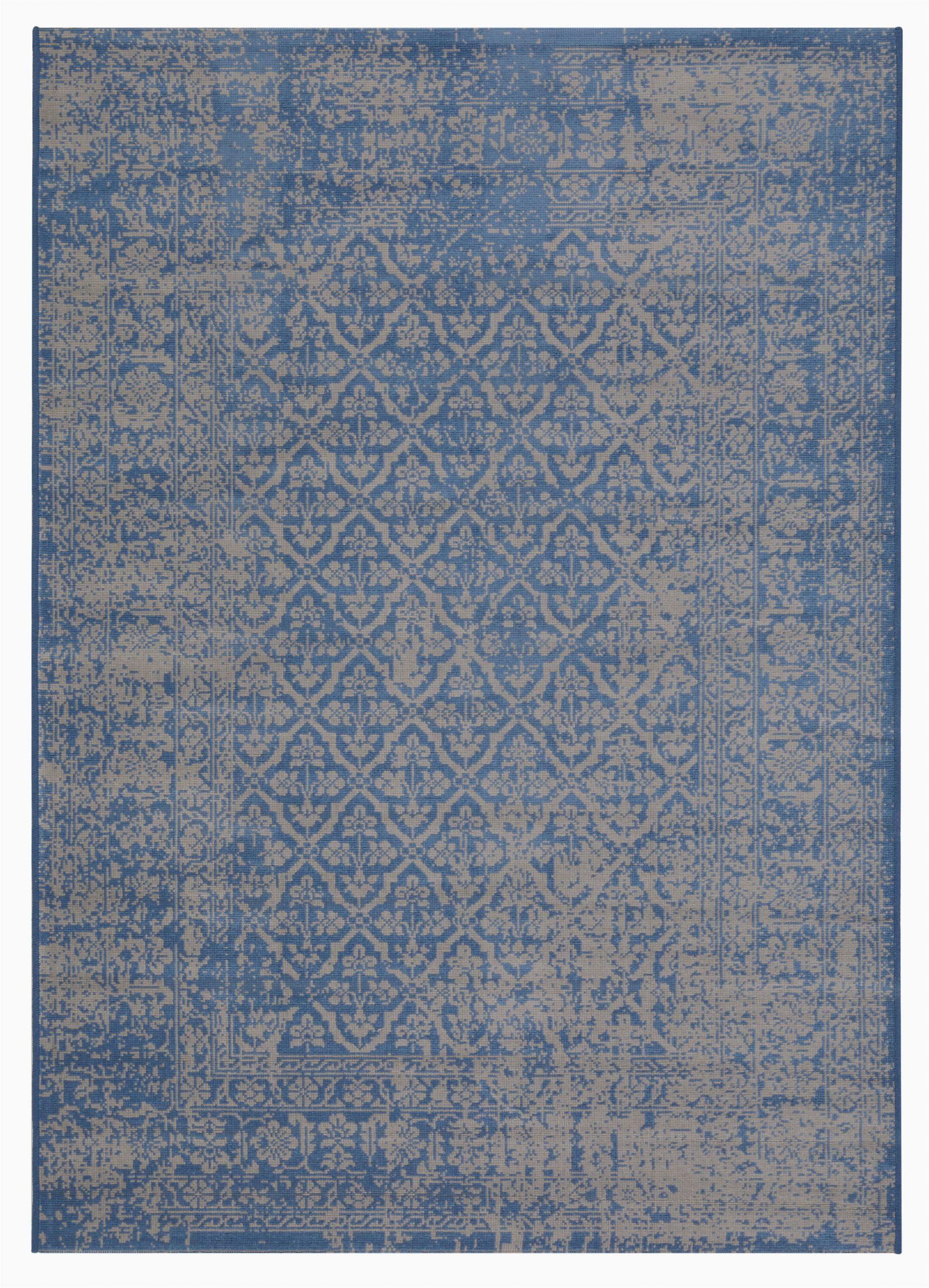 Diamond Scroll Blue Rug Fredericton Flatweave Blue Rug