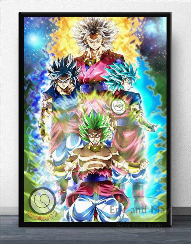 Dragon Ball Z area Rug Dragon Ball Z Goku Japan Anime Ics Ultra Instinct Poster Art Canvas Painting Wall Picture for Living Room Decoration