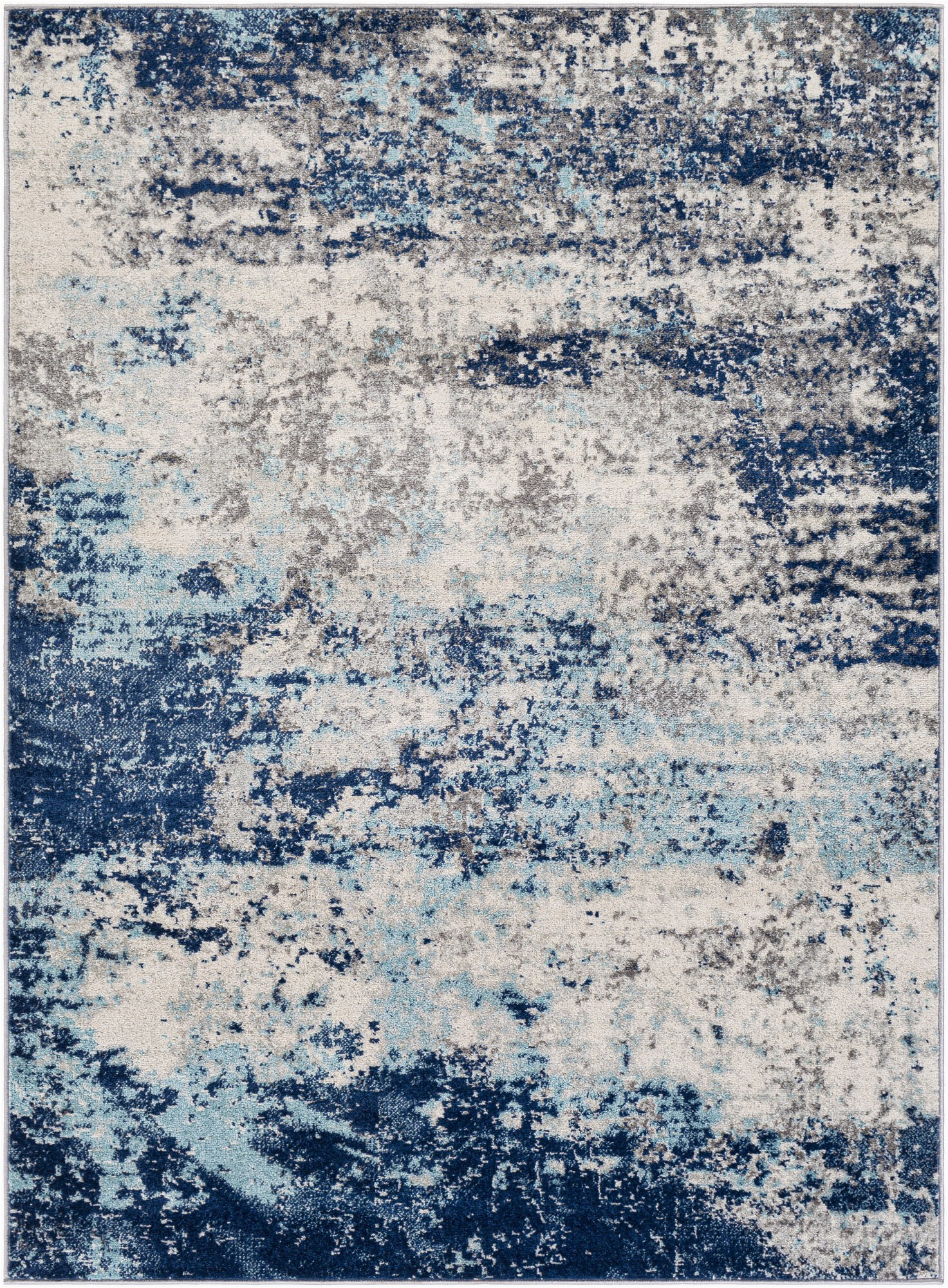 barreras abstract bluegray area rug
