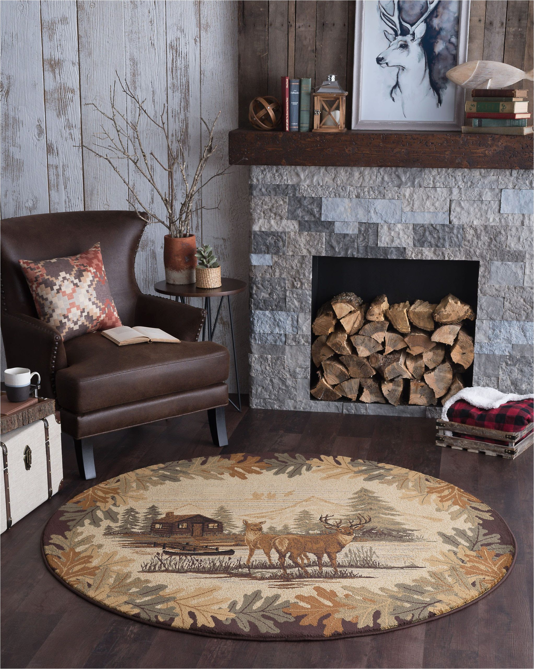 Extra Large area Rugs Walmart Bliss Rugs Oakdale Novelty Indoor Round area Rug Walmart