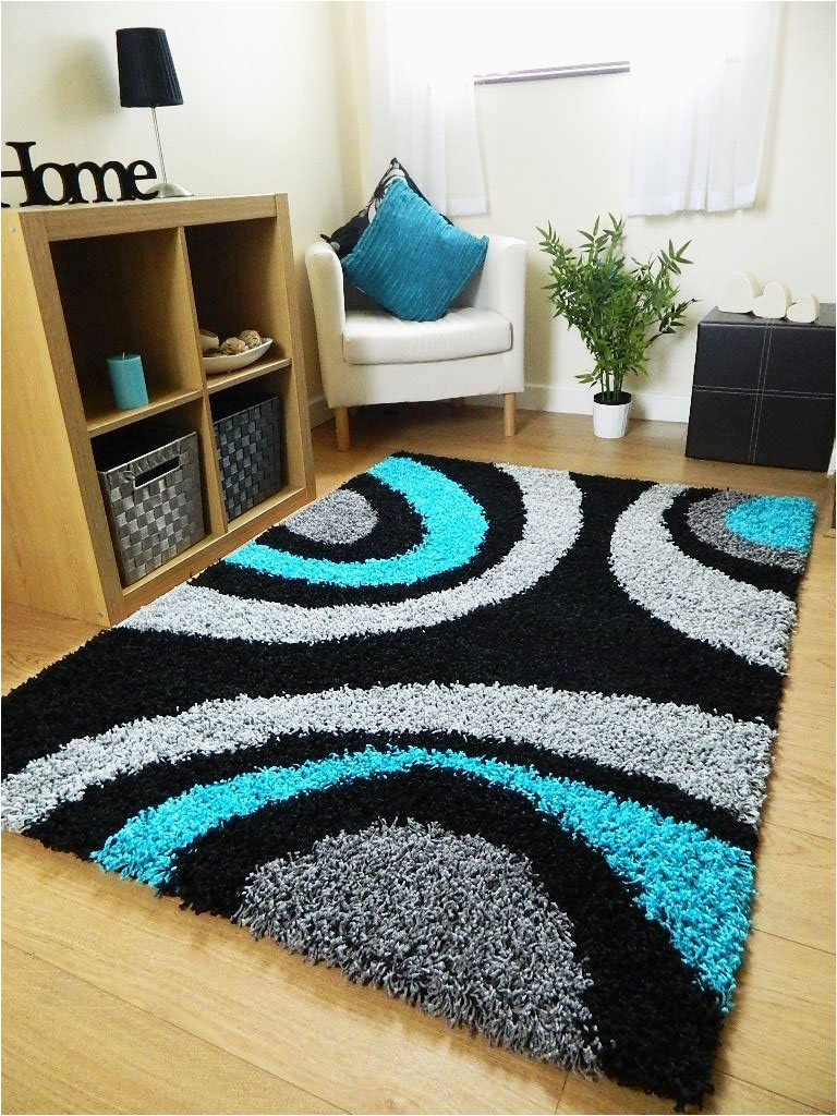 Extra Large Blue Rugs Rugs Superstore Small Extra Large Rug New Modern soft Thick Black Silver Grey Teal Blue Shaggy Rug Non Shed Shag Runners 6 66 X 230 Cm Runner