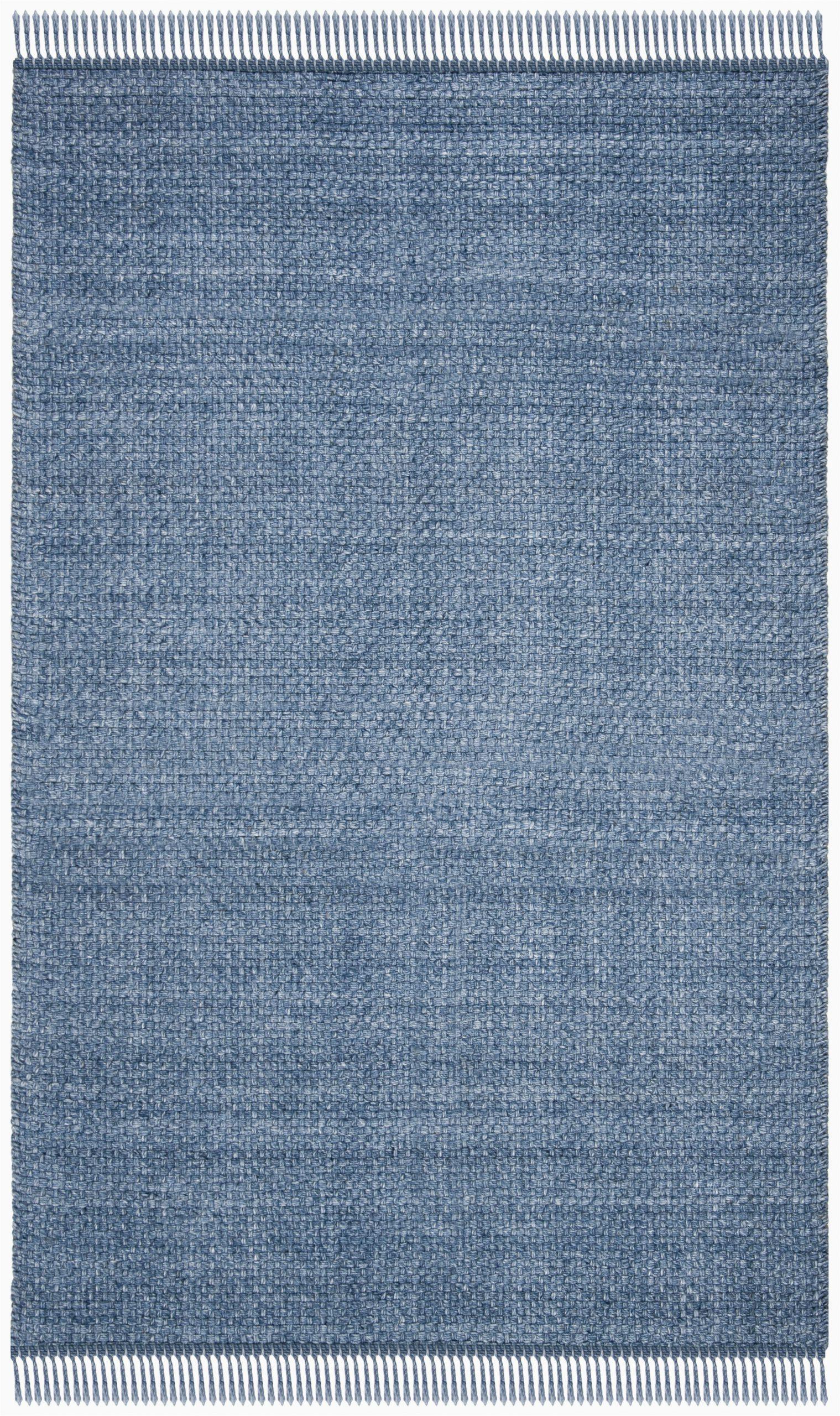 amalie handwoven flatweave wool blue area rug