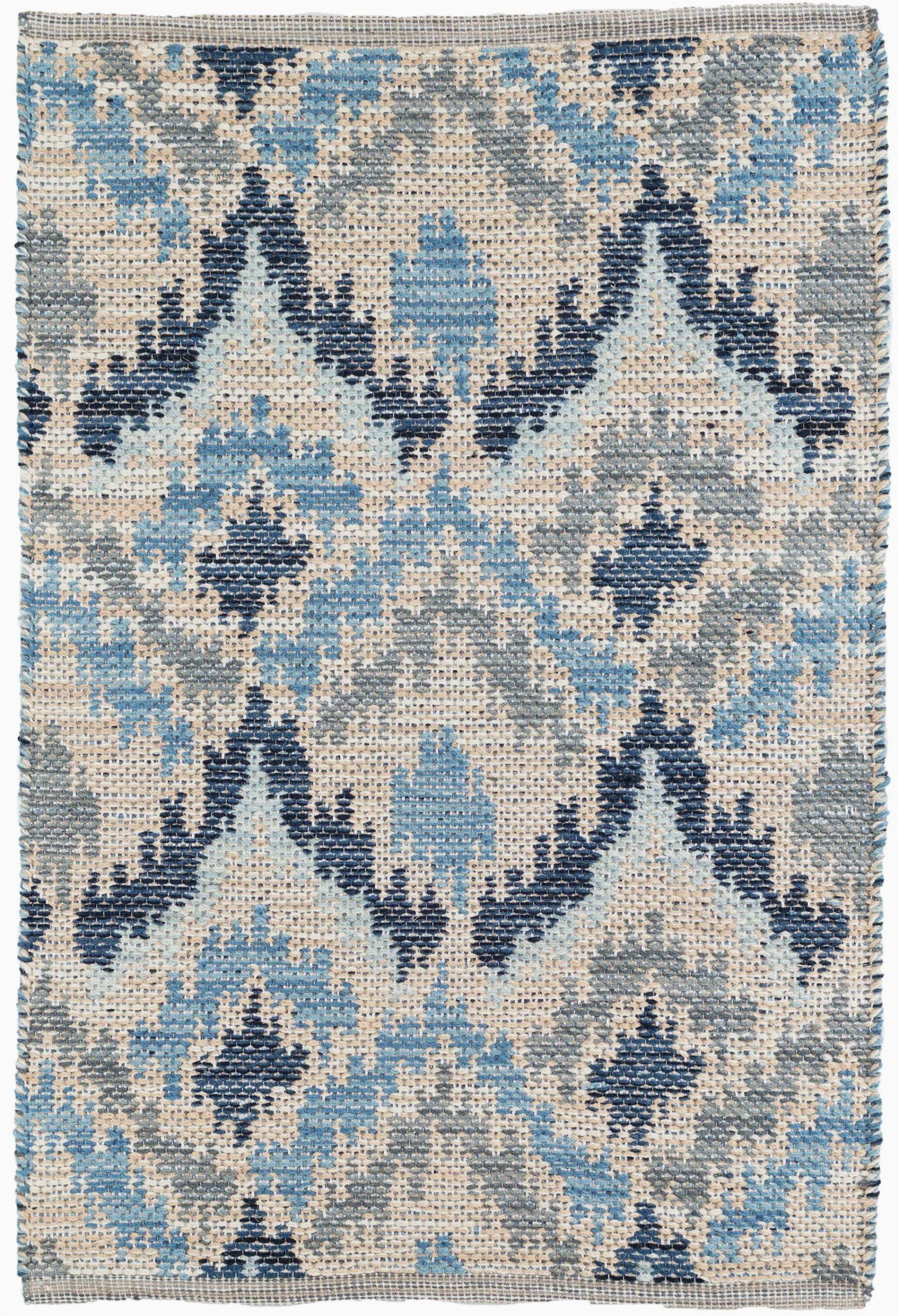 medina ikat handmade flatweave bluegraycream area rug