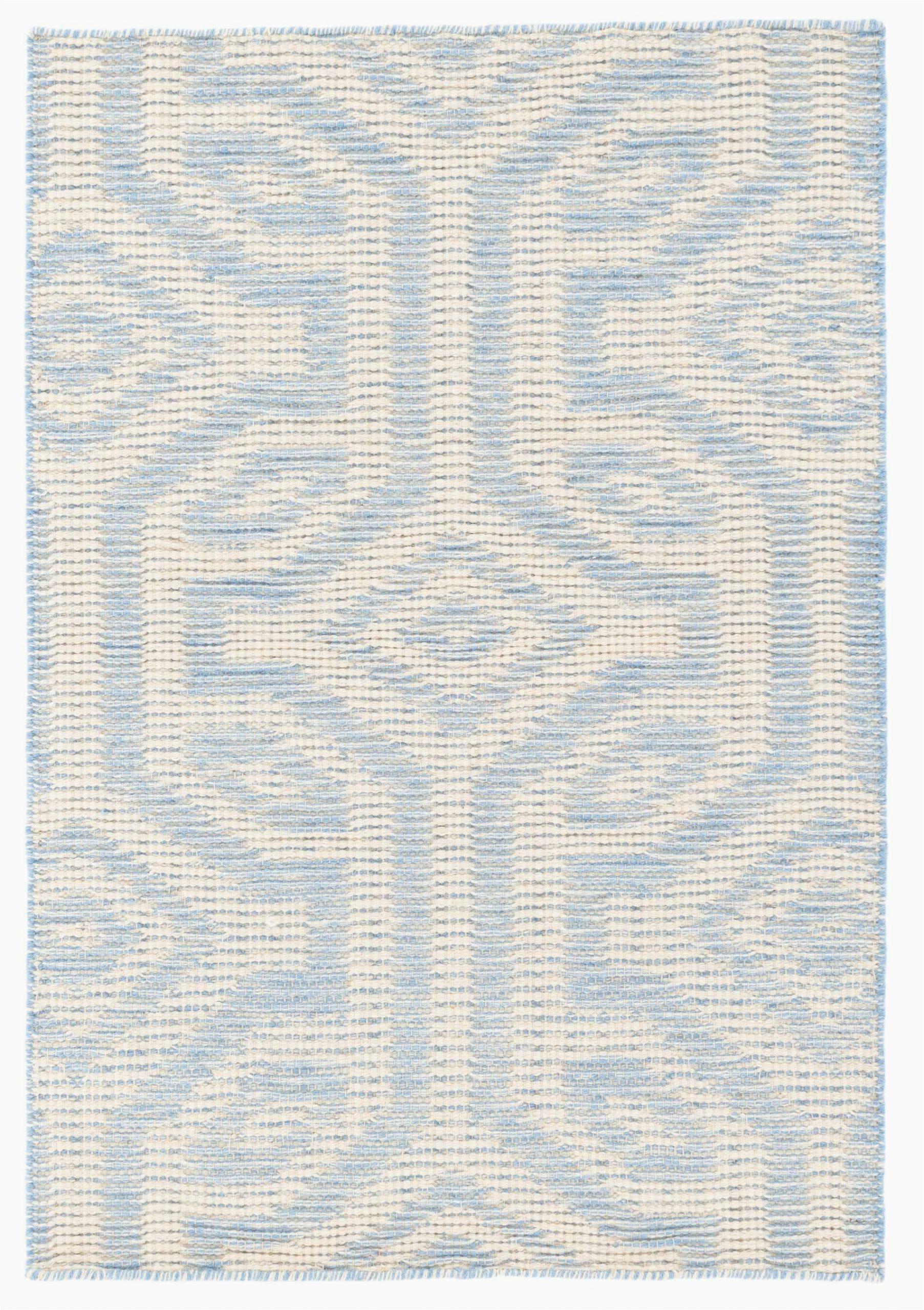 taj pale geometric handmade flatweave wool sky blueivory area rug
