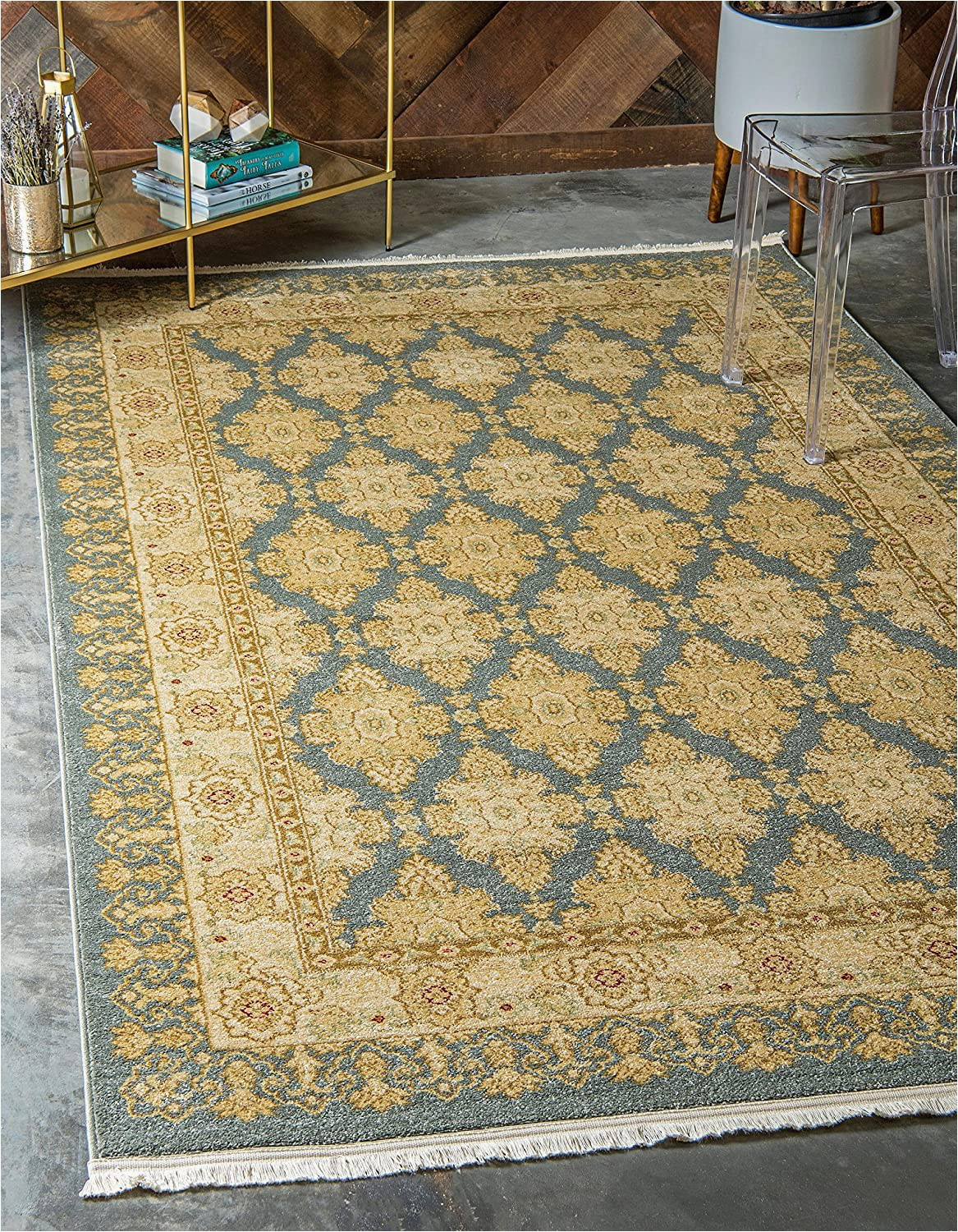 French Country Style area Rugs Unique Loom Edinburgh Collection oriental Traditional French Country Blue area Rug 3 3 X 5 3