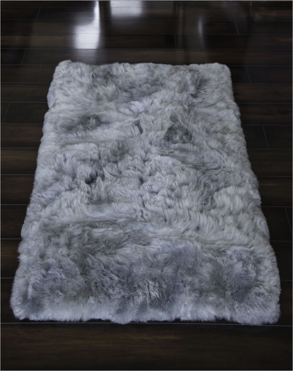 Hua Alpaca rug fur rug in Light Gray
