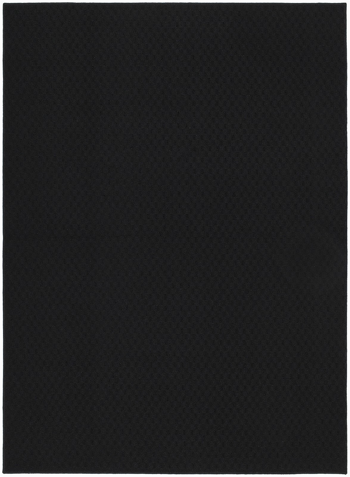 """Garland Rug town Square area Rug Garland Rug town Square solid Black 45""""x66"""" Indoor area Rug"""
