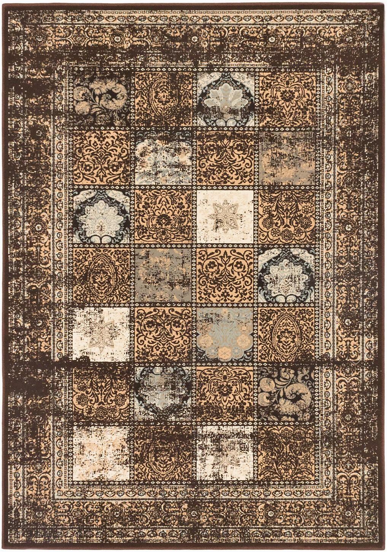 jaycob oriental dark brown area rug