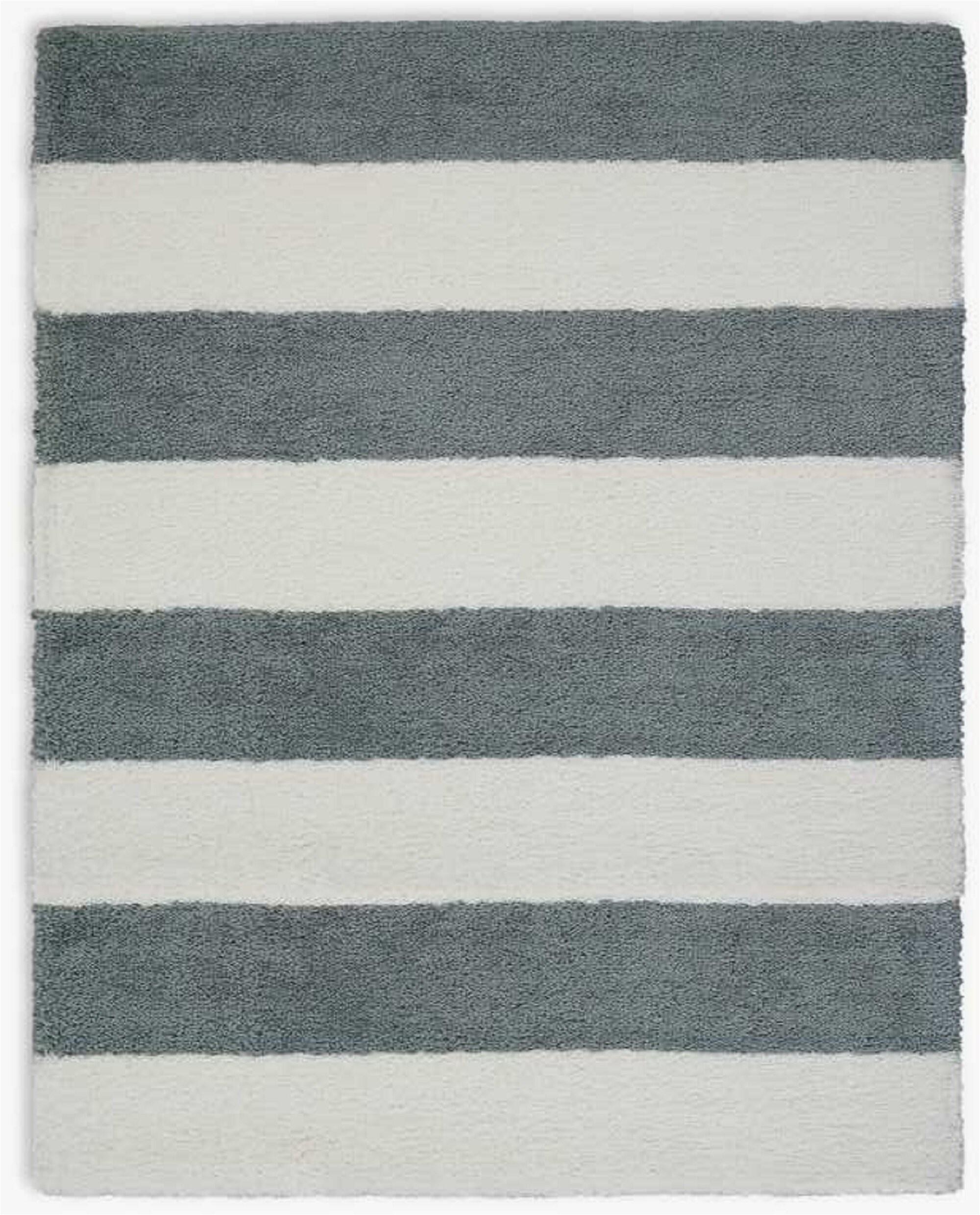 chicago striped handmade shag whitegrey area rug