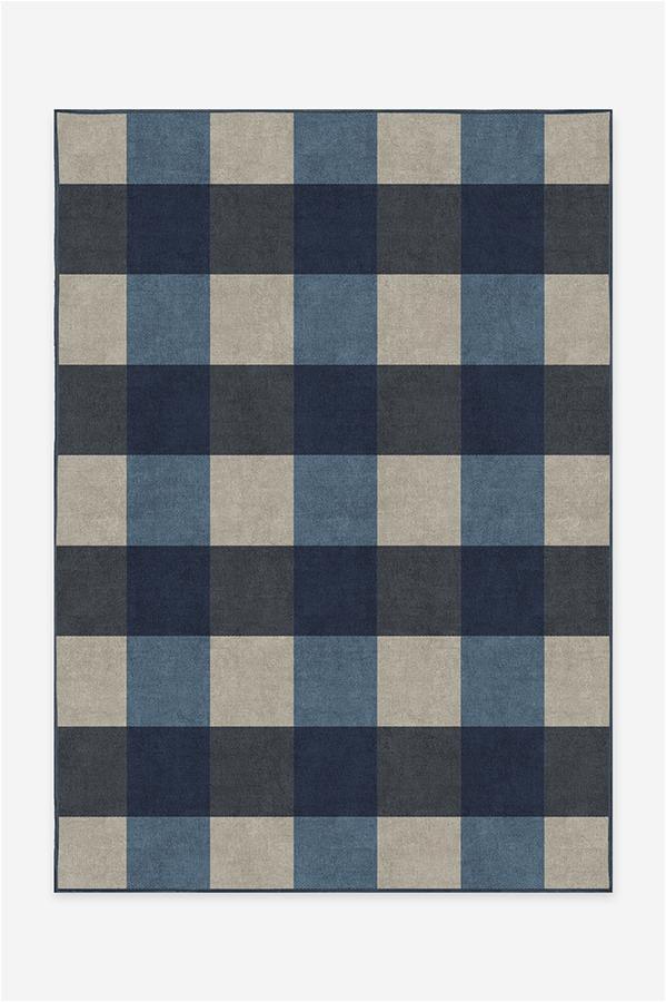 Buffalo Plaid BlueIvory A RC 0514 57 Clean Washable Rug Pad