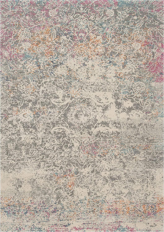 "Grey Multi Colored area Rugs Amazon Loloi Zehla Collection area Rug 1 6"" X 1 6"