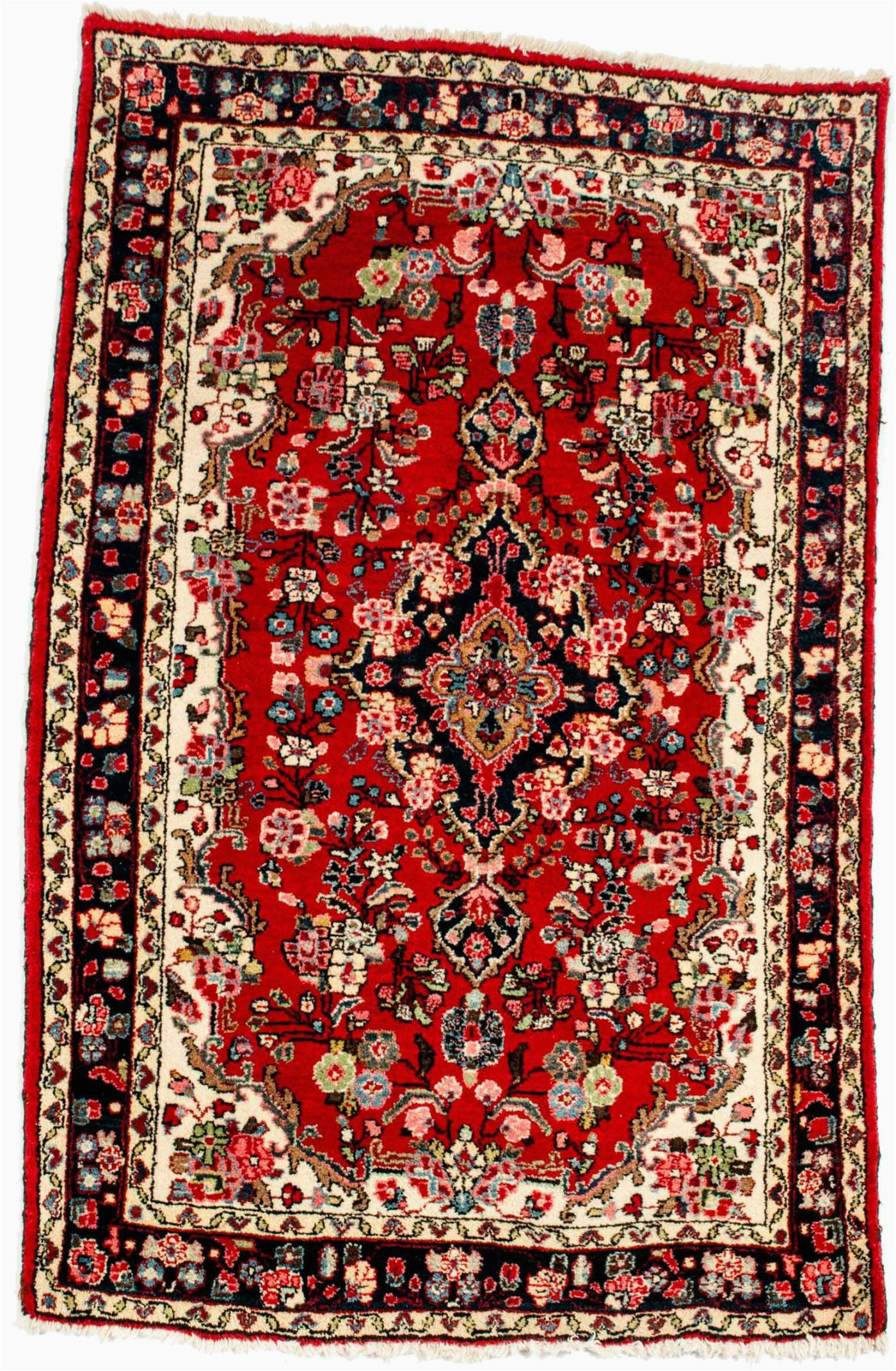 Pure Silk Hand Knotted Persian Area Rug
