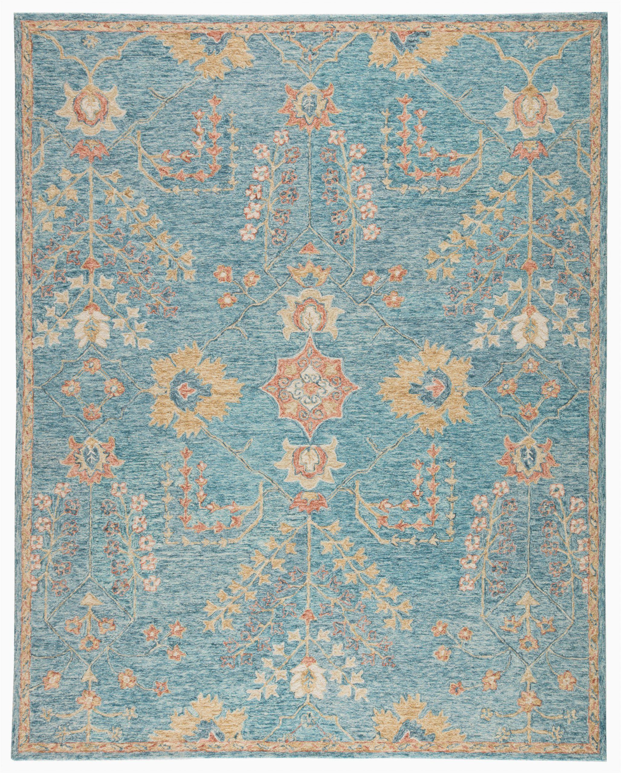 addi hand tufted wool teal area rug