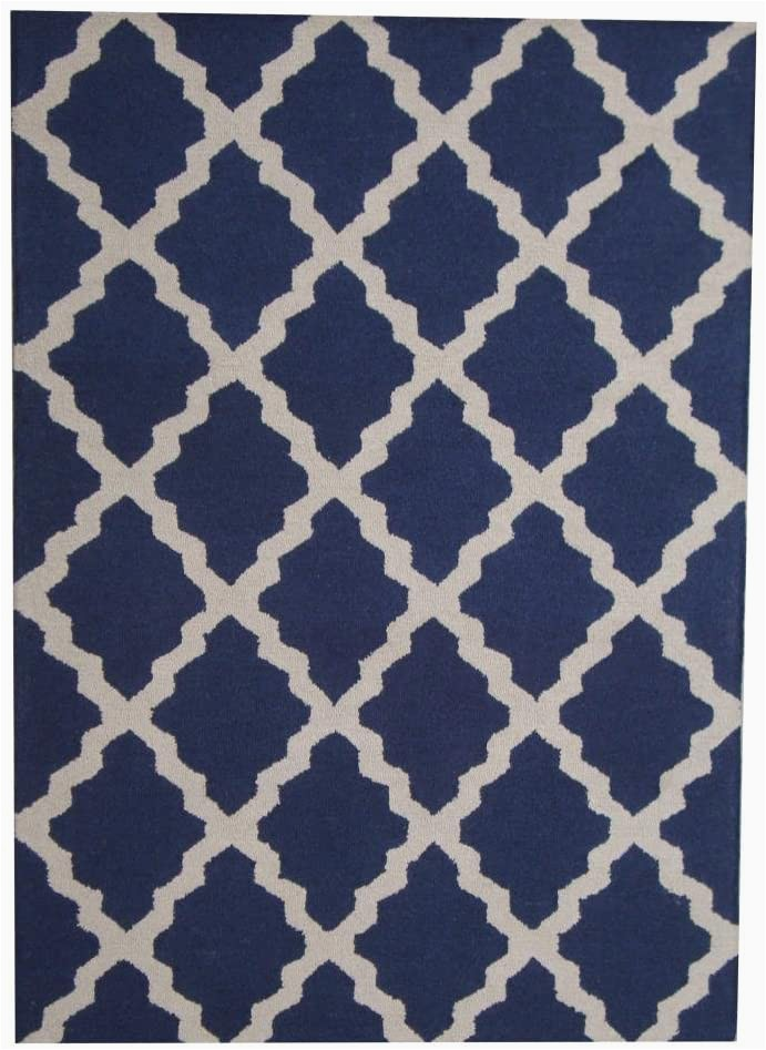 Hand Tufted Blue Wool Rug Amazon Herat oriental Indo Hand Tufted Contemporary