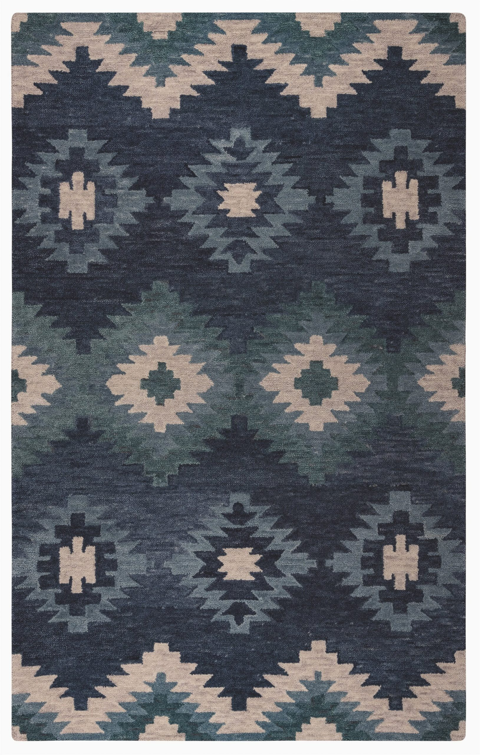 harrison hand tufted wool blue area rug