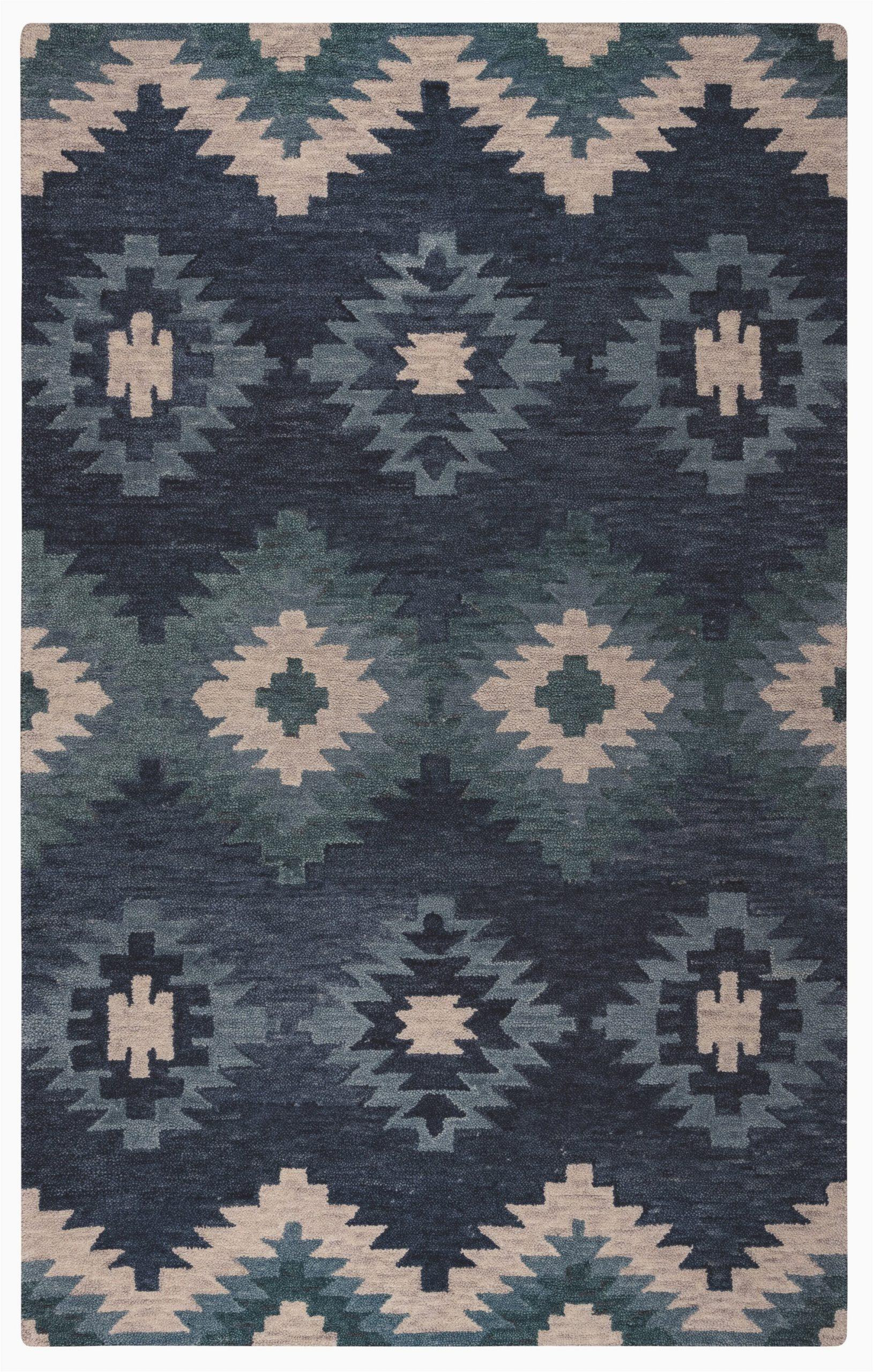 harrison hand tufted wool blue area rug