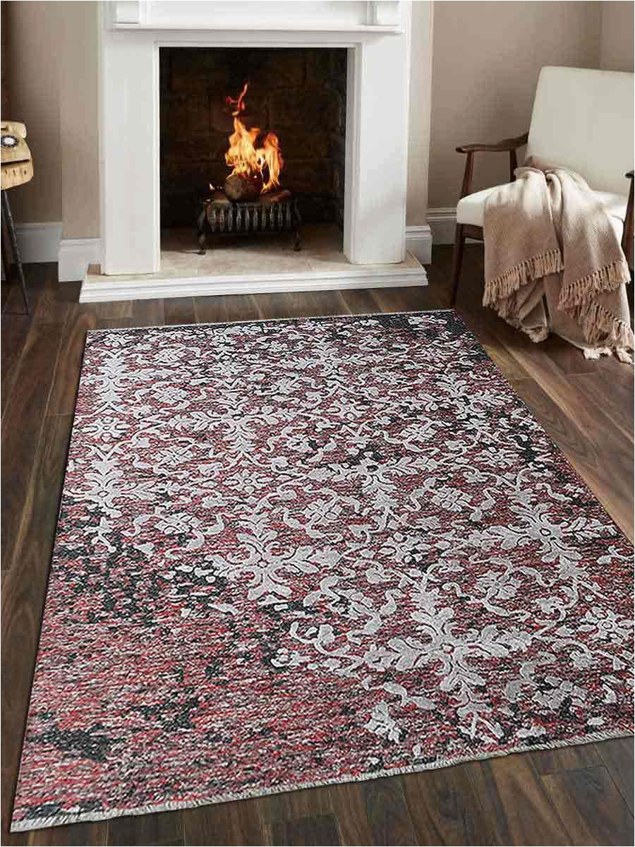 hand knotted sumak silk and wool 6x9 area rug floral multi sw size=selected