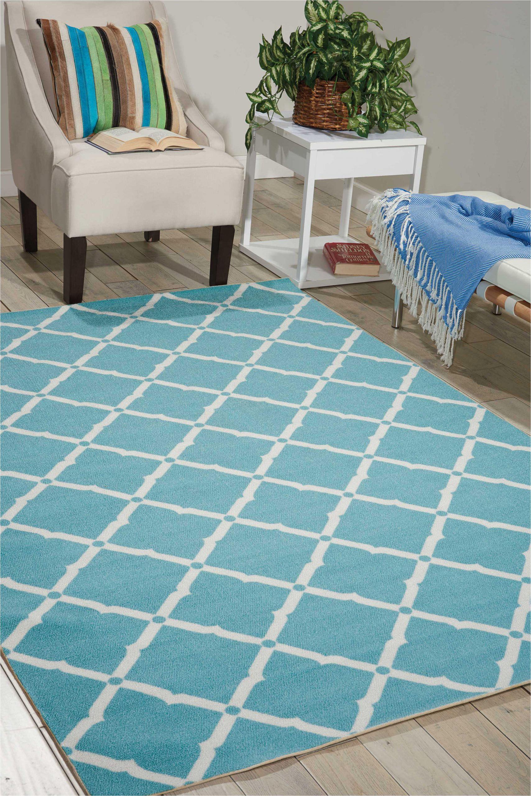 Home and Garden area Rugs Home and Garden Indoor Outdoor Aqua area Rug by Nourison Walmart