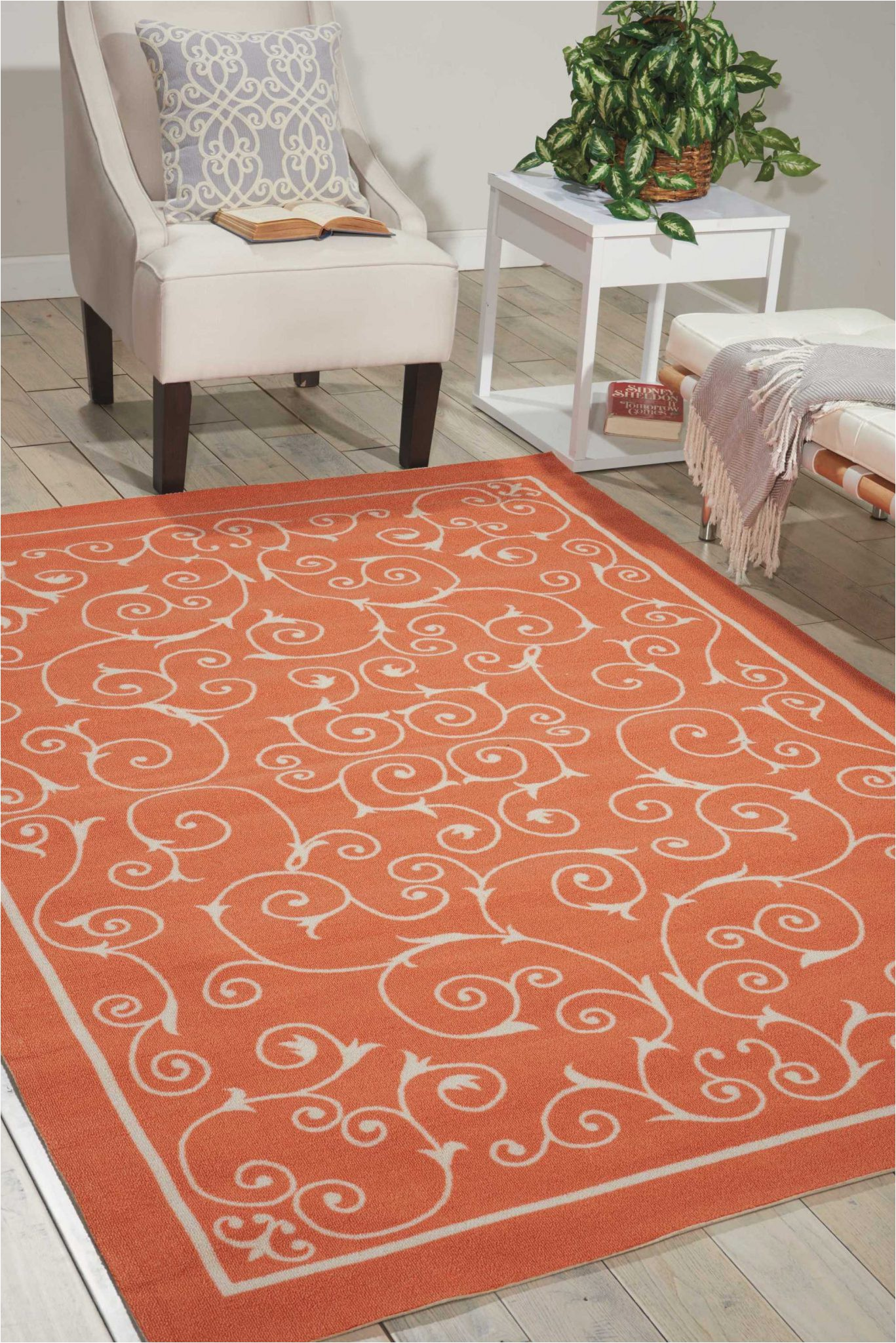 Home and Garden area Rugs Nourison Home & Garden Rs019 orange area Rug