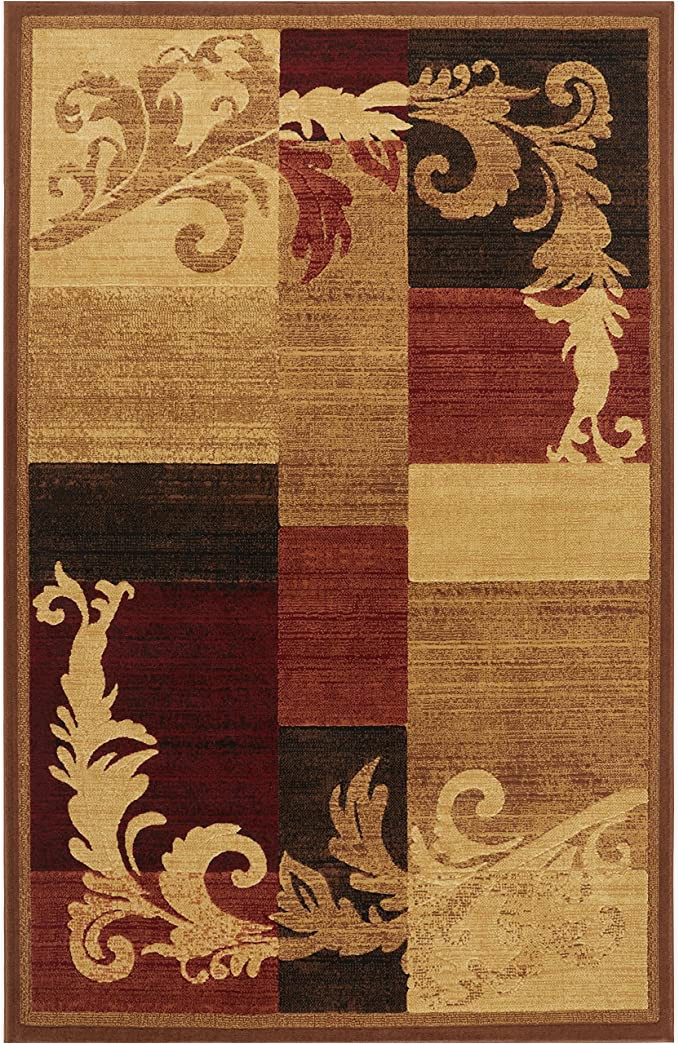 """Home Dynamix Catalina Pierre area Rug Home Dynamix Catalina Pierre Contemporary Modern area Rug 5 3""""x7 2"""" Geometric Brown Red Beige"""