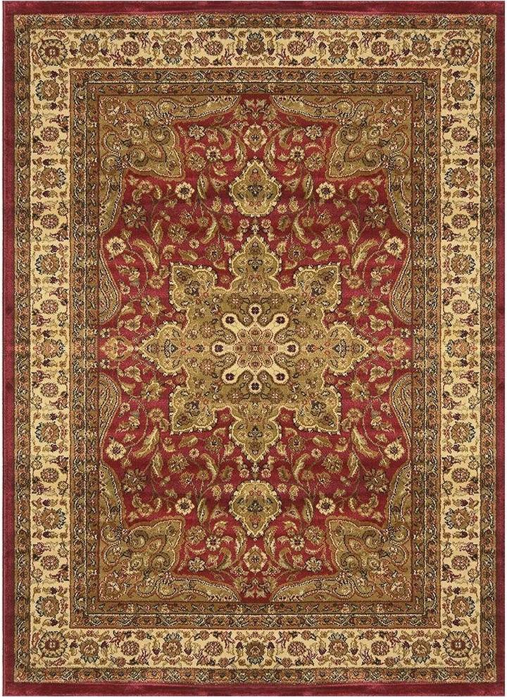 home dynamix royalty ursa runner area rug 1 9x7 2 border red prvw vr