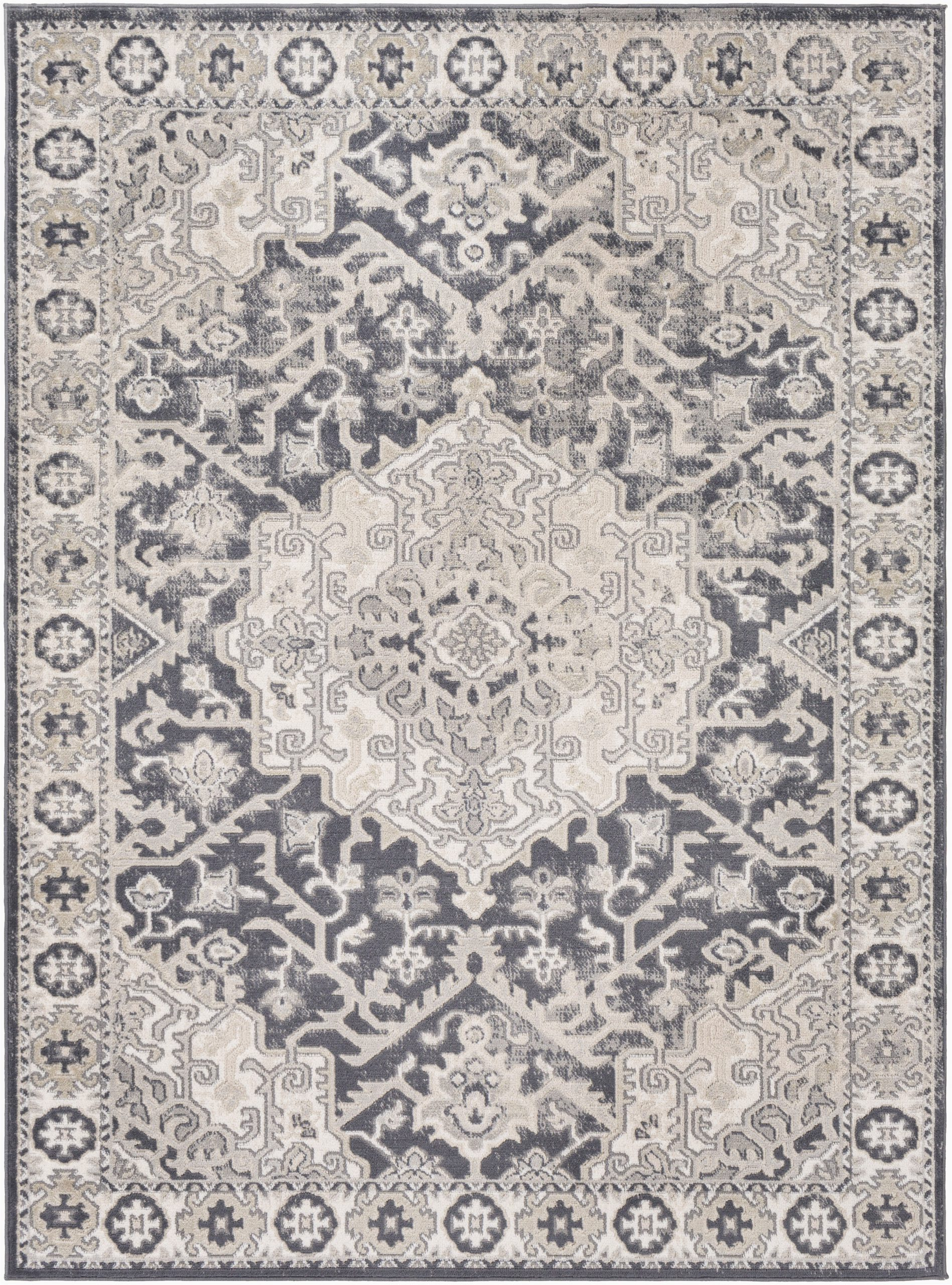 acadia oriental ivorycharcoal area rug