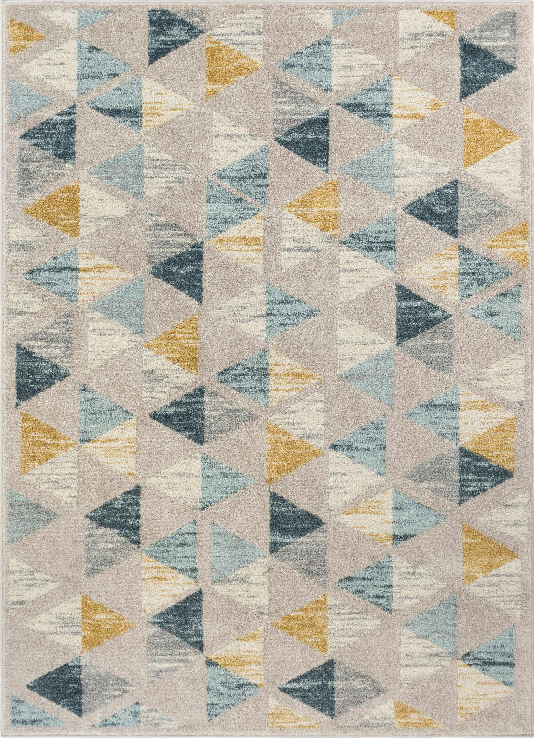 mystic modern vintage geometric ivoryteal area rug