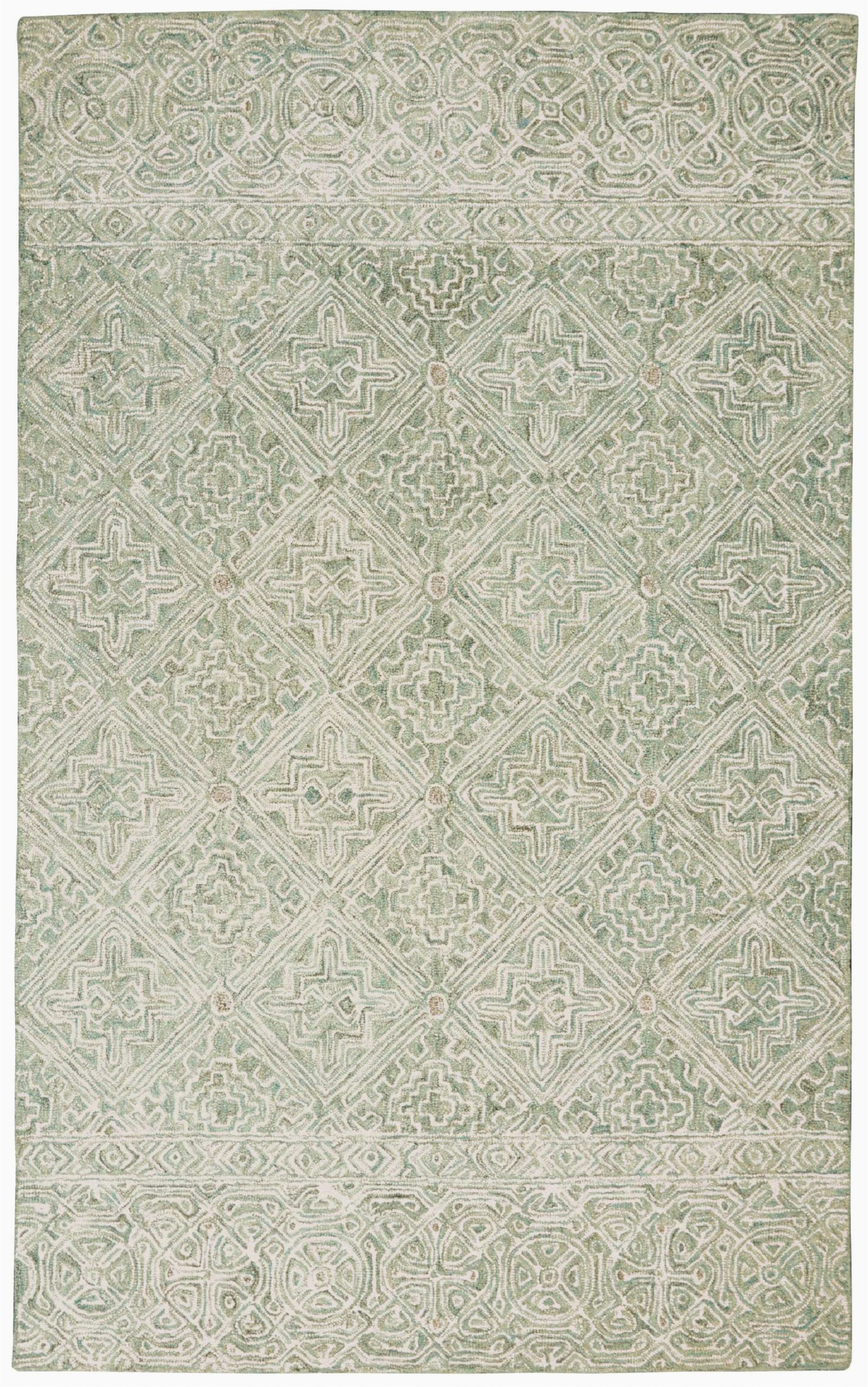 veronika scandinavian geometric handwoven wool ivoryteal area rug
