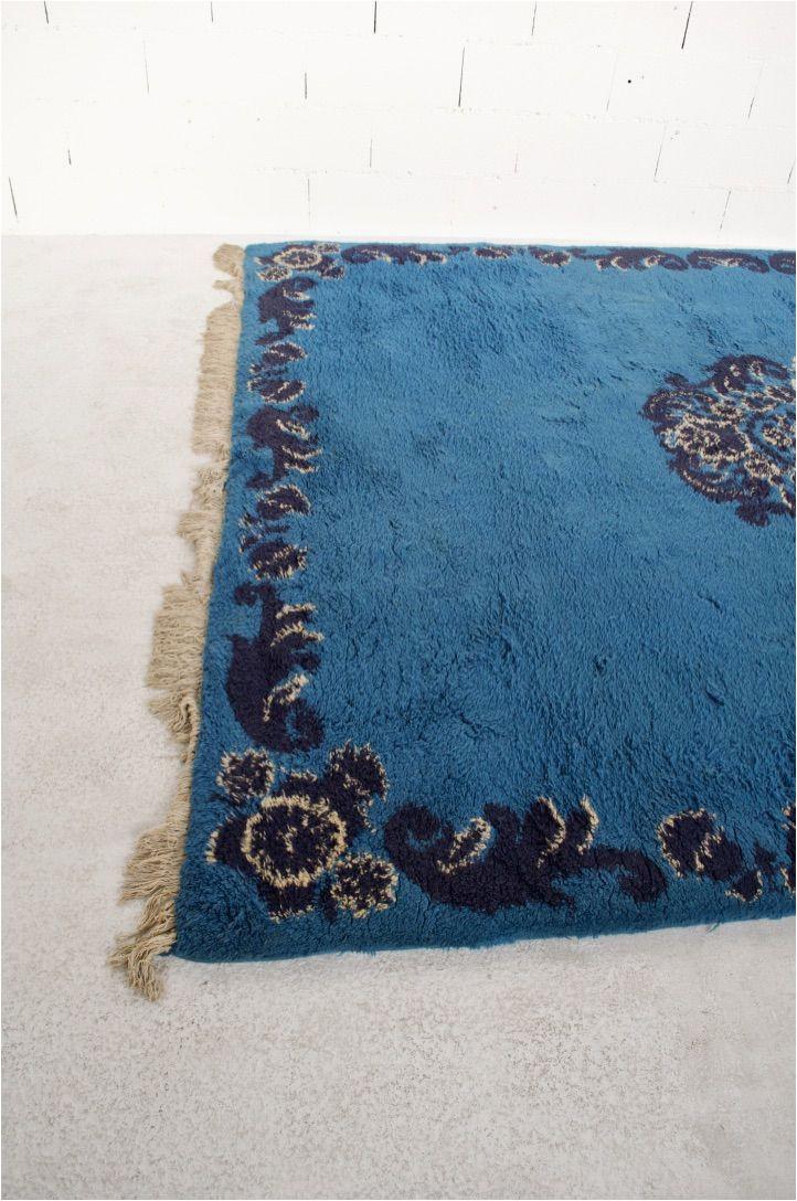 large moroccan berber vintage blue wool rug