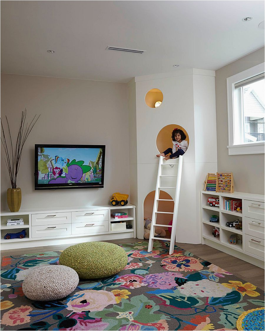 Add lovely floral motifs along with color with an area rug like this