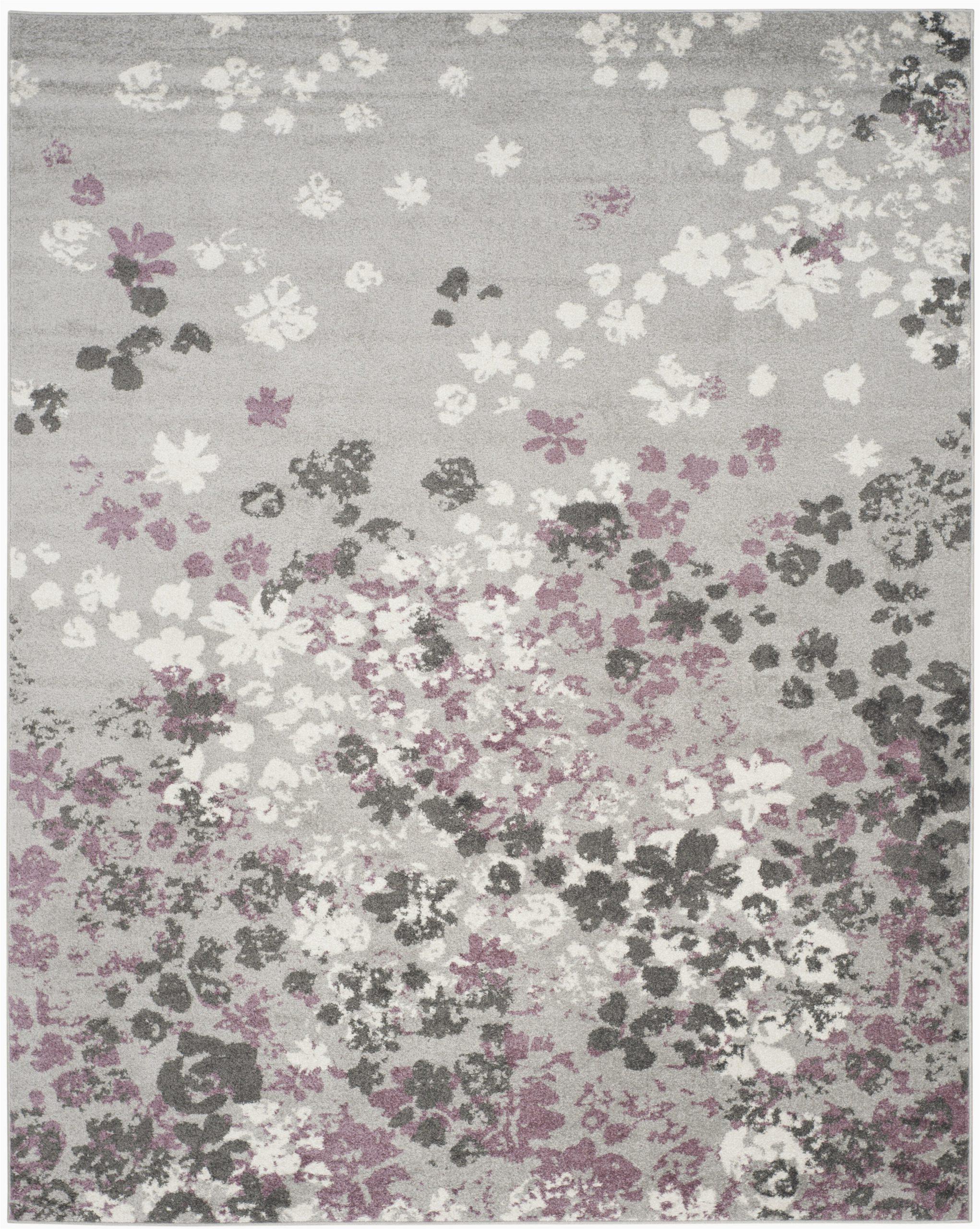 ales floral graylavender purple area rug