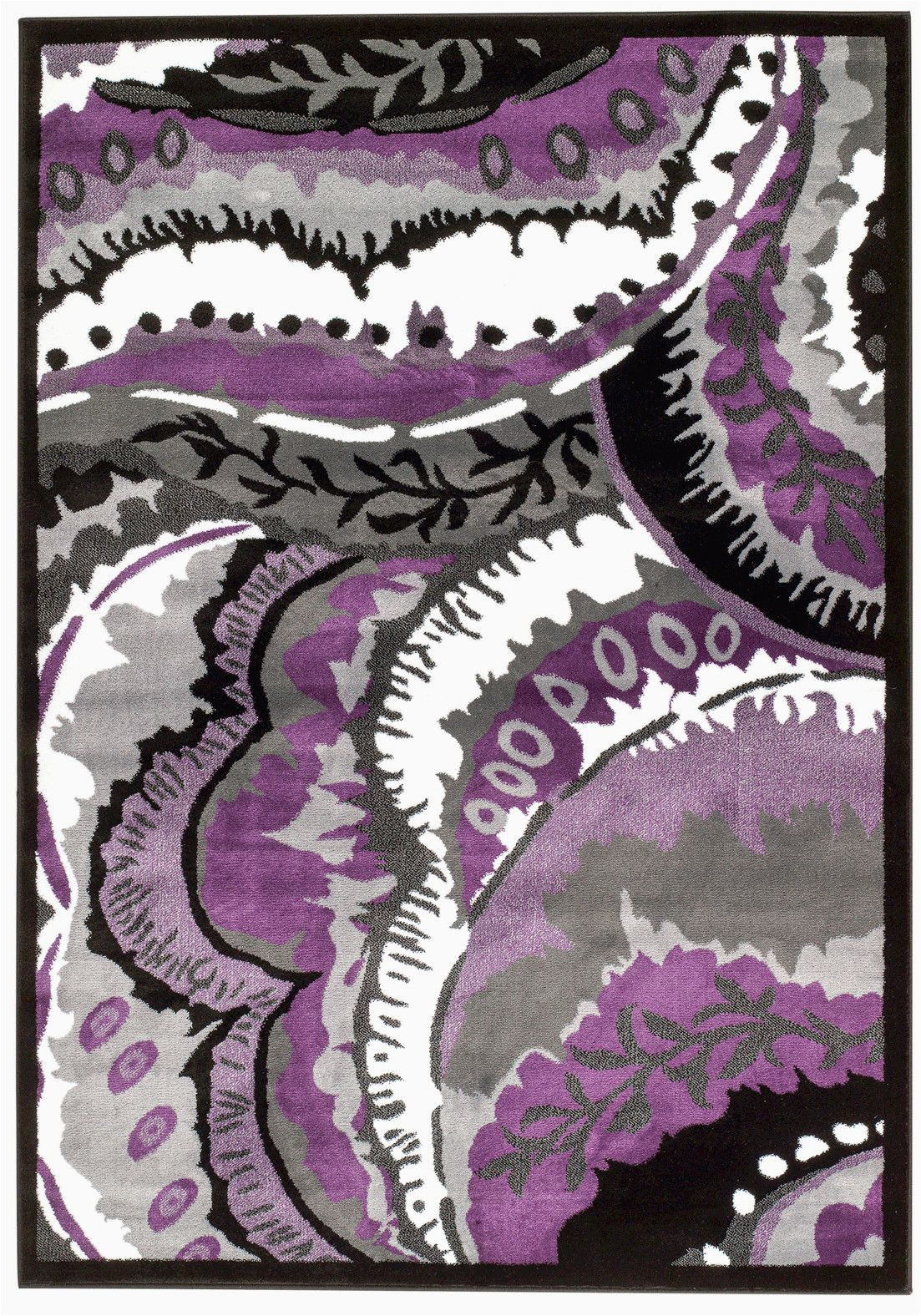 Lavender and Gray area Rugs Alize Abstract Purple Gray area Rug