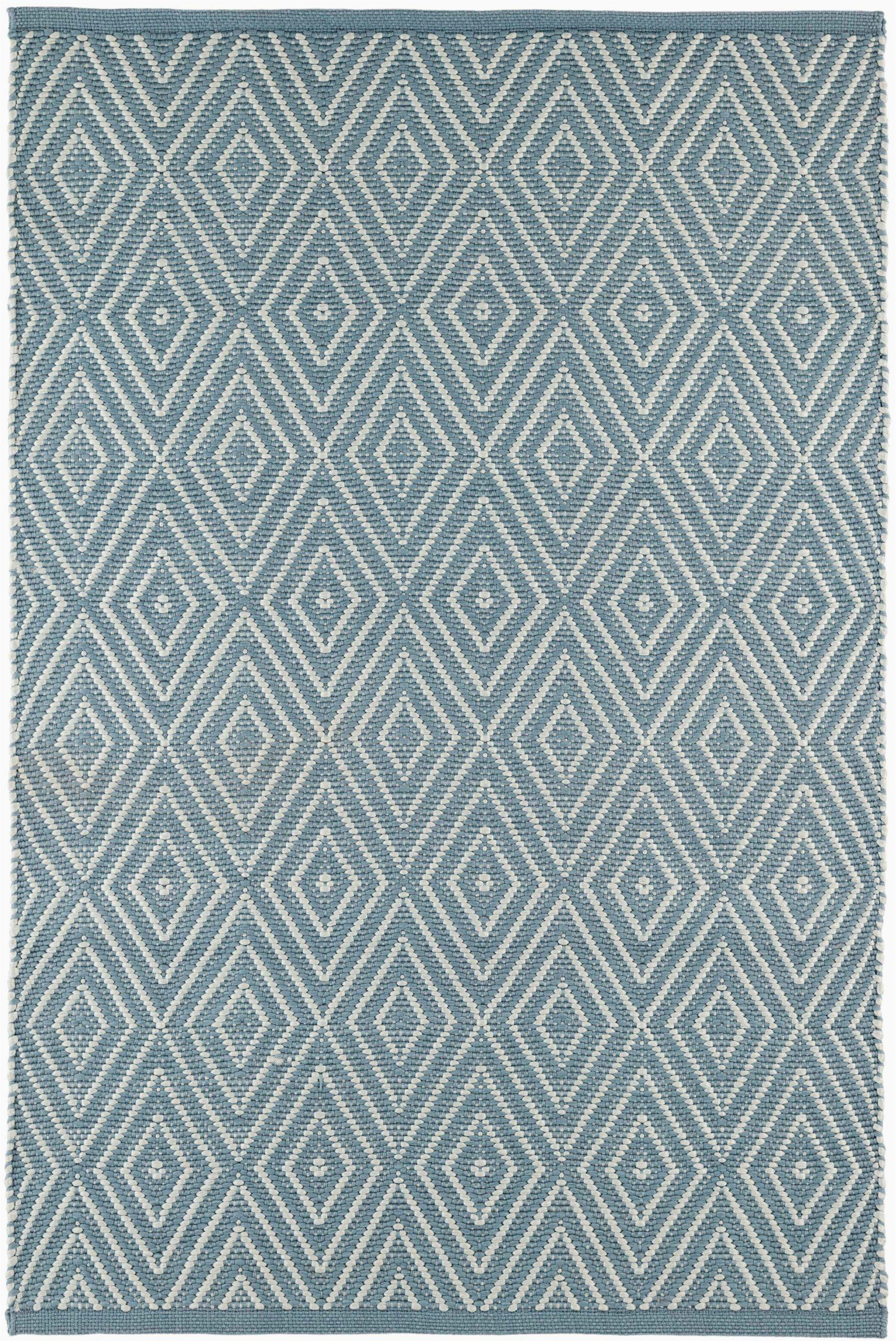 diamond geometric hand knotted light blue indooroutdoor area rug