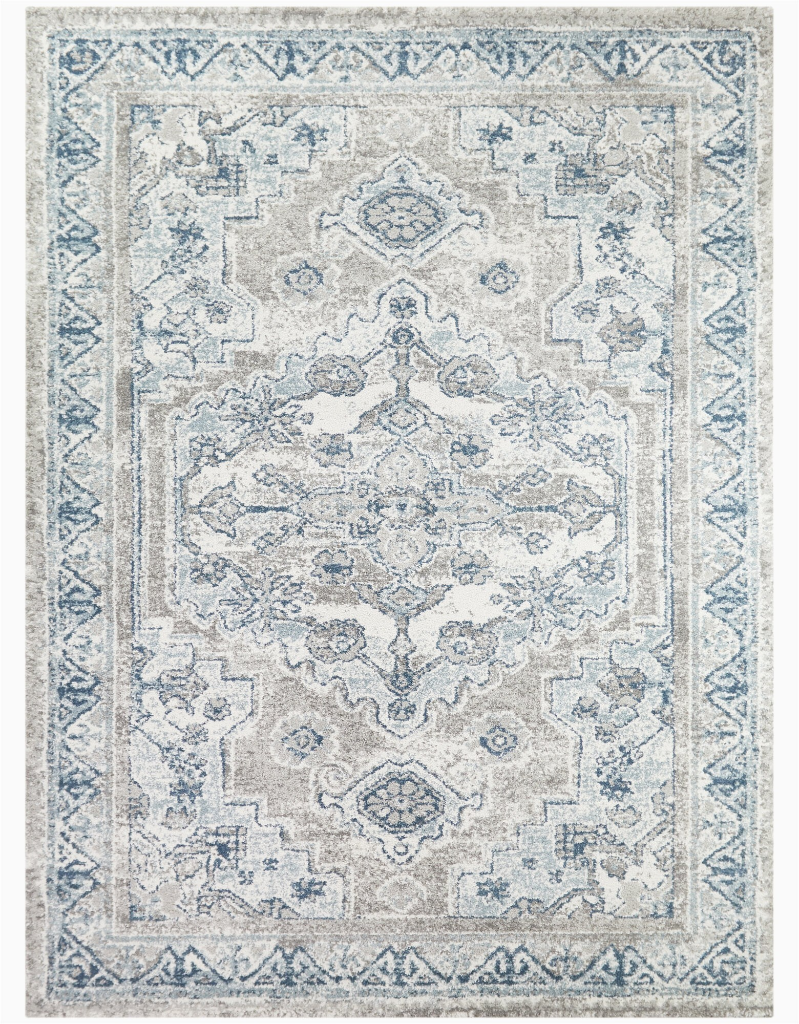 romney oriental light bluegray area rug
