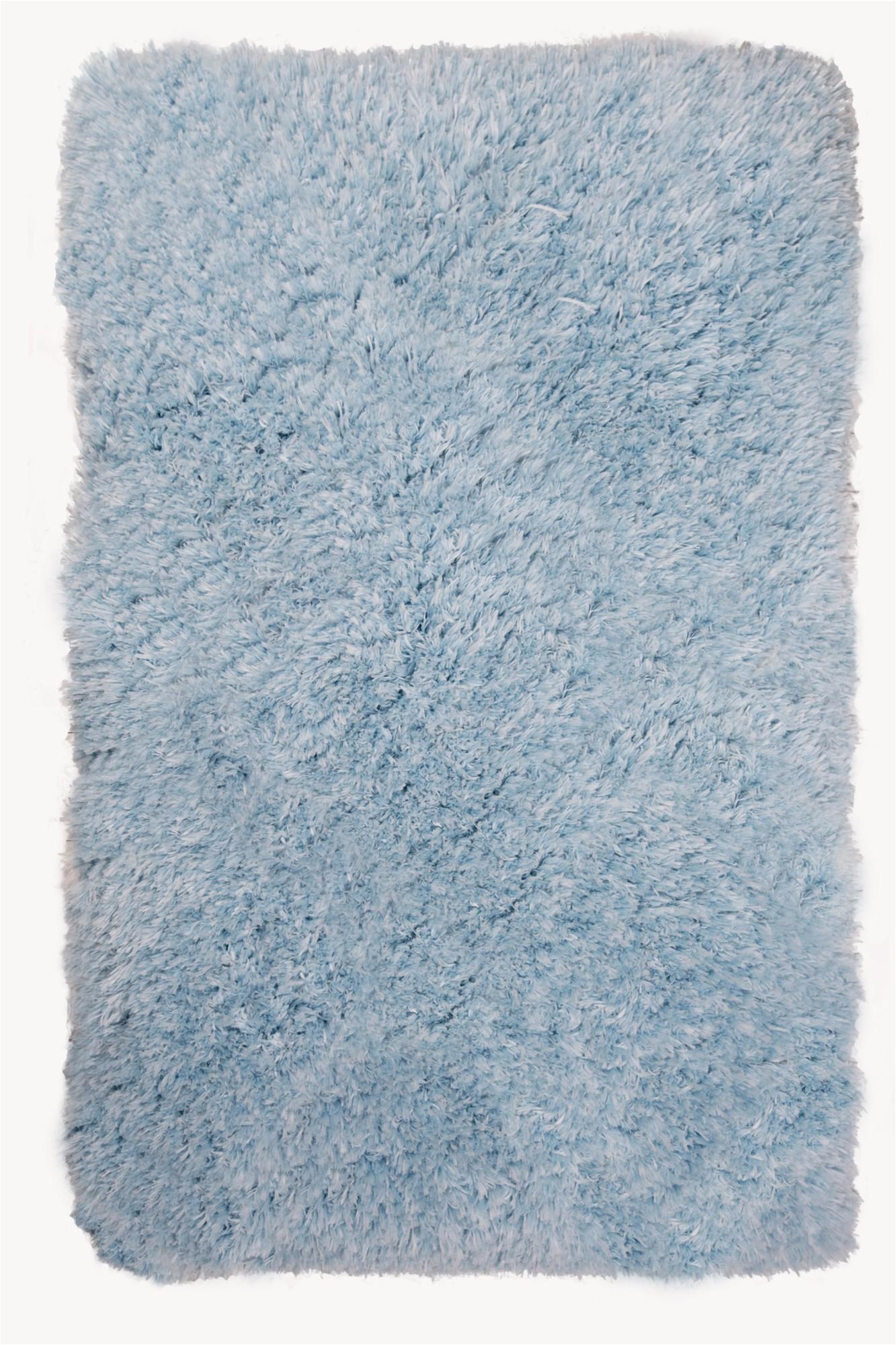 Light Blue Shag area Rug Nicole Miller Designer area Rugs Casey Css 301 Light Blue Shag Flokati solid Rug