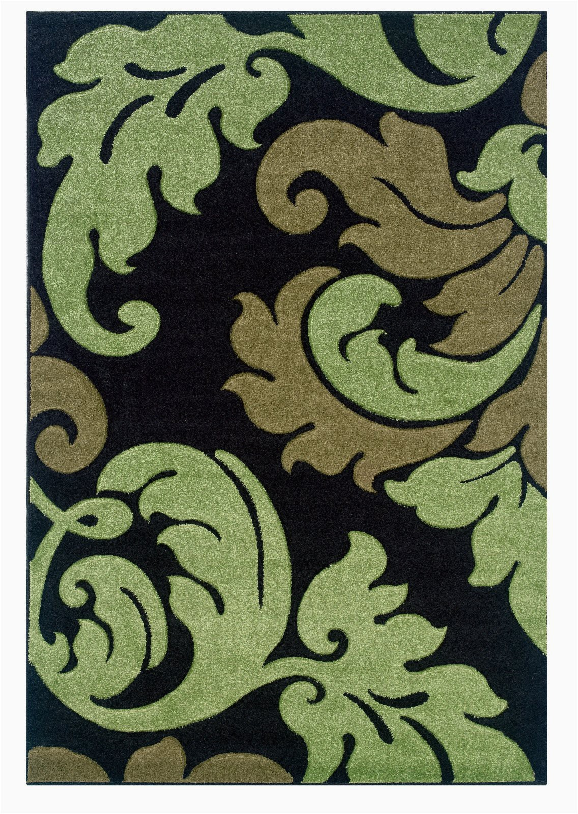 linon corfu rug cu13 black lime area rug