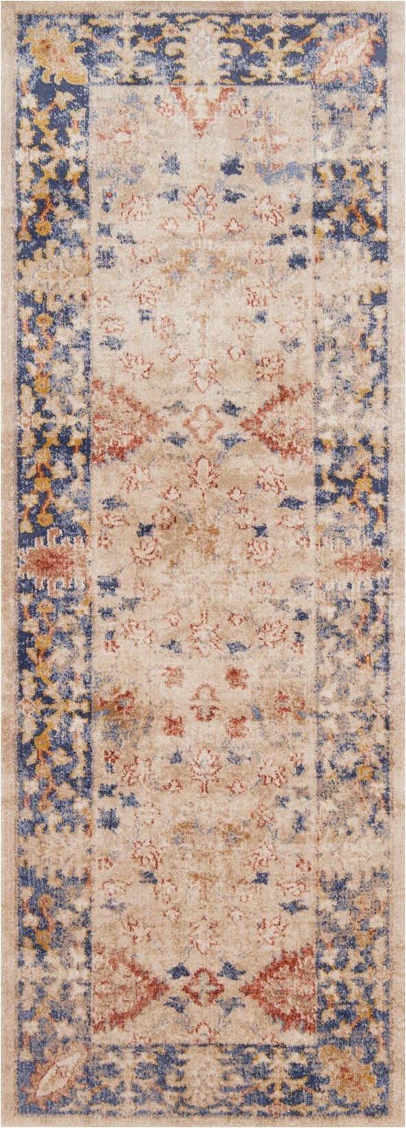Trinity TY 08 Sand Blue Area Rug Magnolia Home by Joanna Gaines p