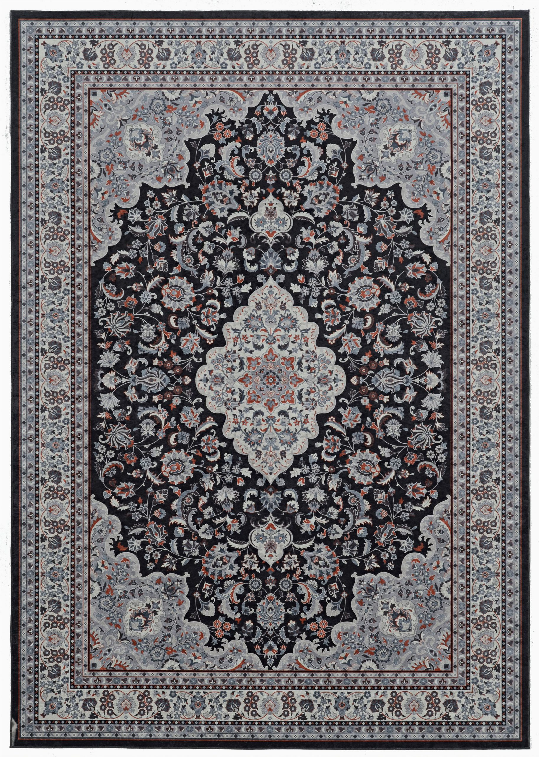 Mainstays Titan area Rug Black Emerald Collection Black Cream Rug Multiple Sizes Walmart