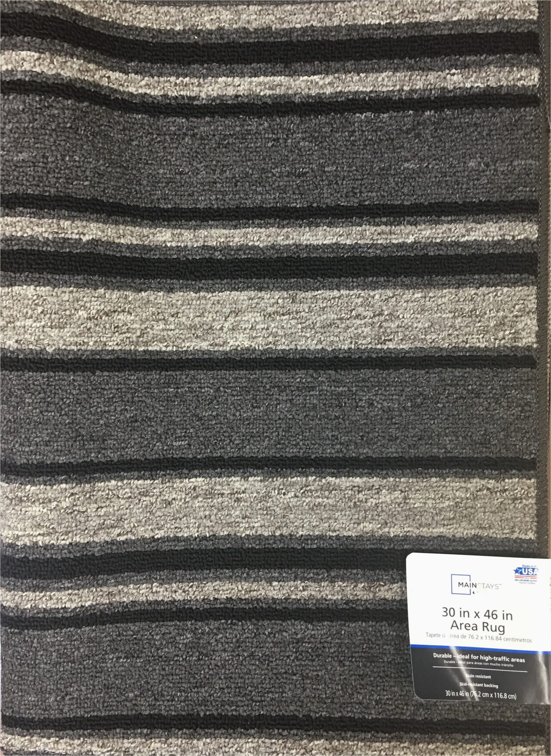 Mainstays Titan area Rug Black Mainstays Ms Titan Black Gry 30×46 Accent Rug Walmart