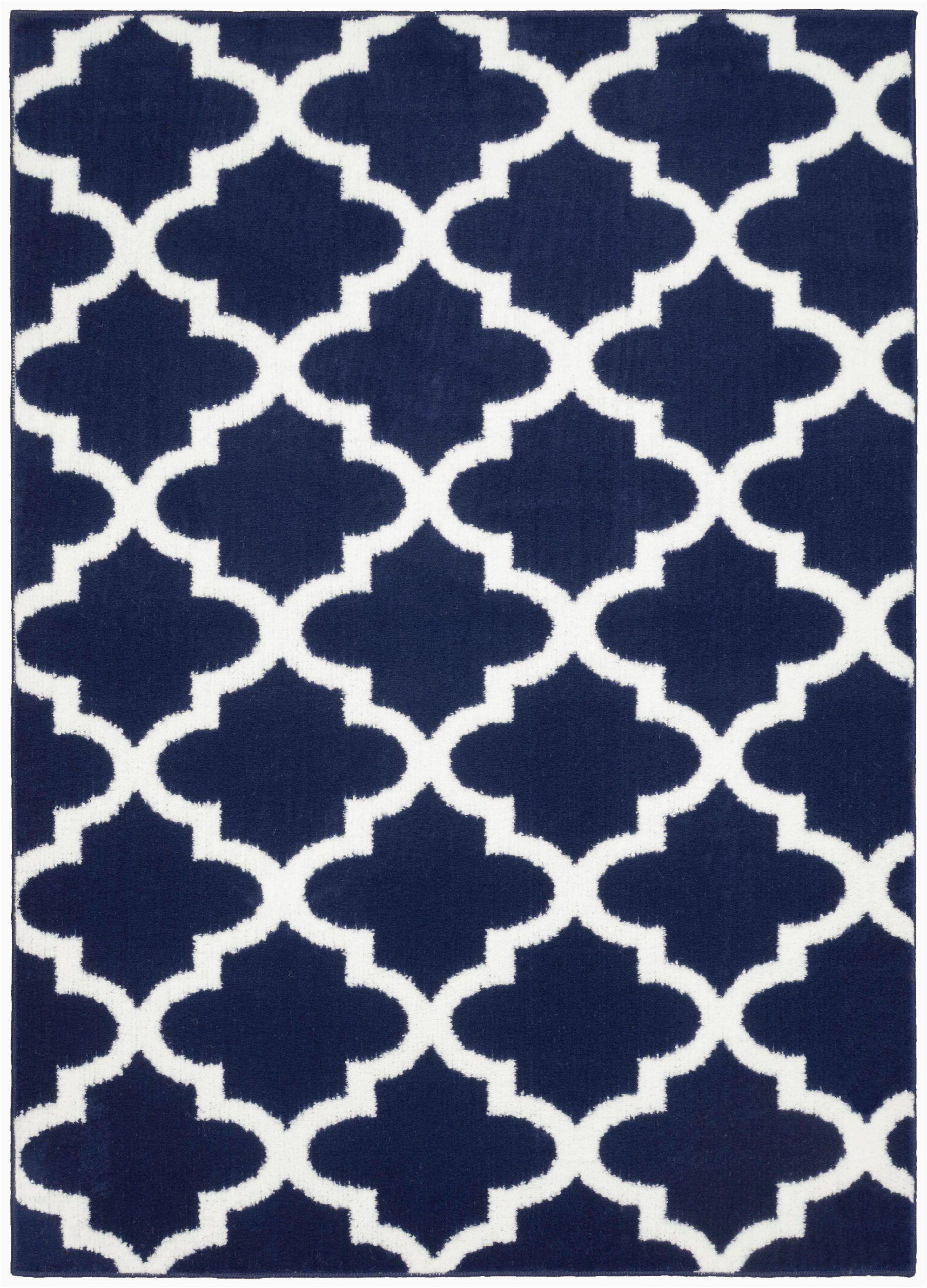 Mainstays Titan area Rug Black Mainstays Quatrefoil Navy White 5 X7 Geometric Indoor area
